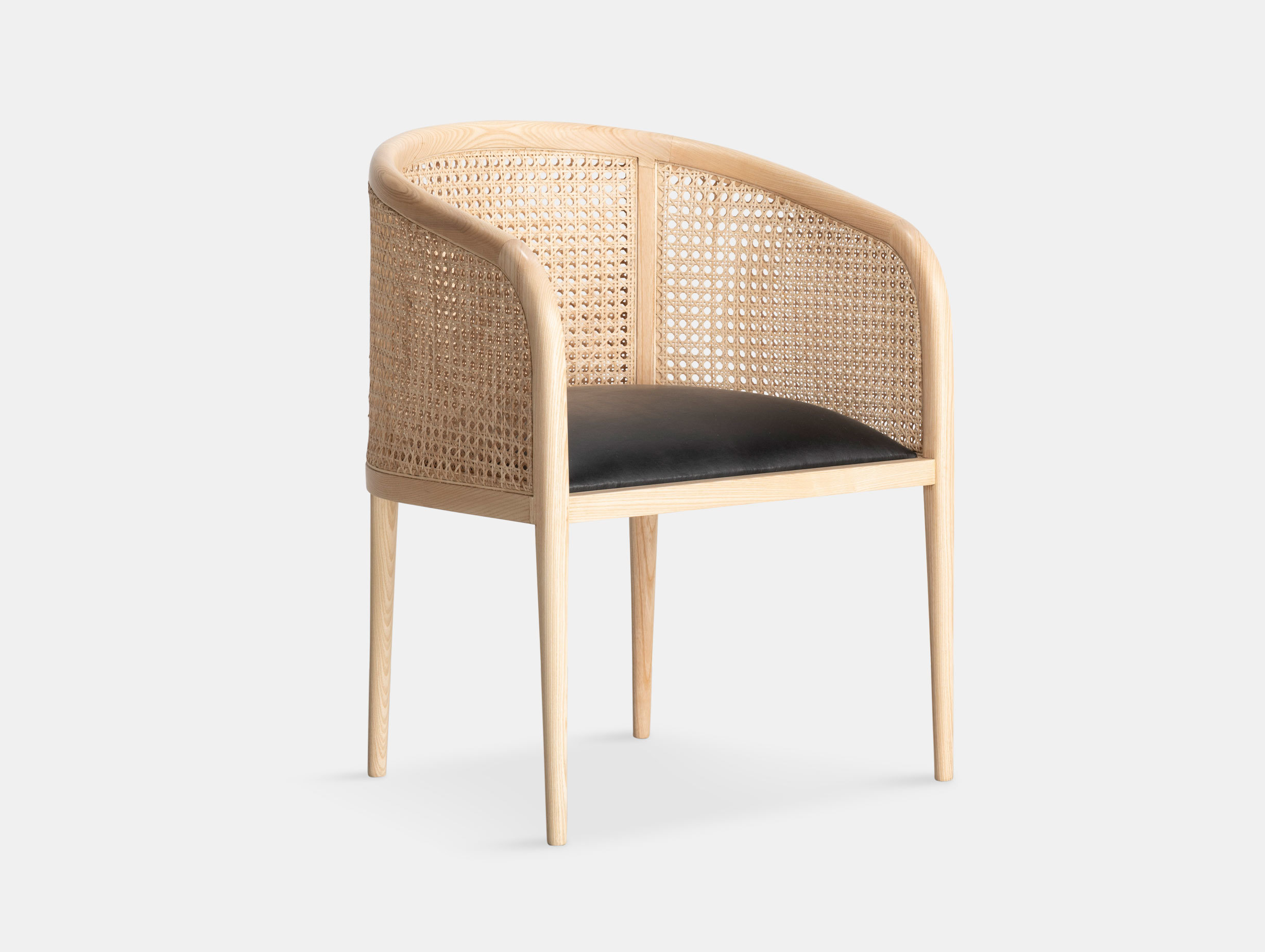 Kam Ce Kam Mera Chair natural ash black leather