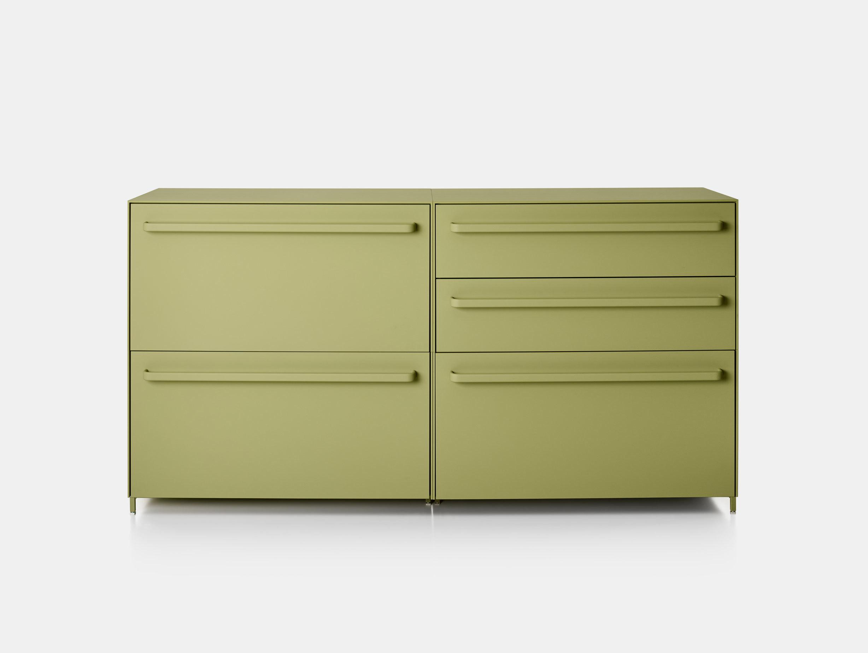MDF Italia Handle Sideboard green L180cm Bruno Fattorini