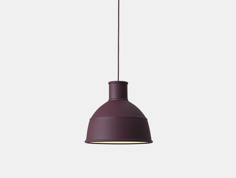 Muuto Unfold Pendant Lamp burgundy