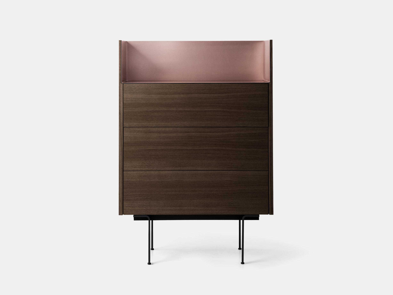 Punt Stockholm Dresser walnut pink Mario Ruiz