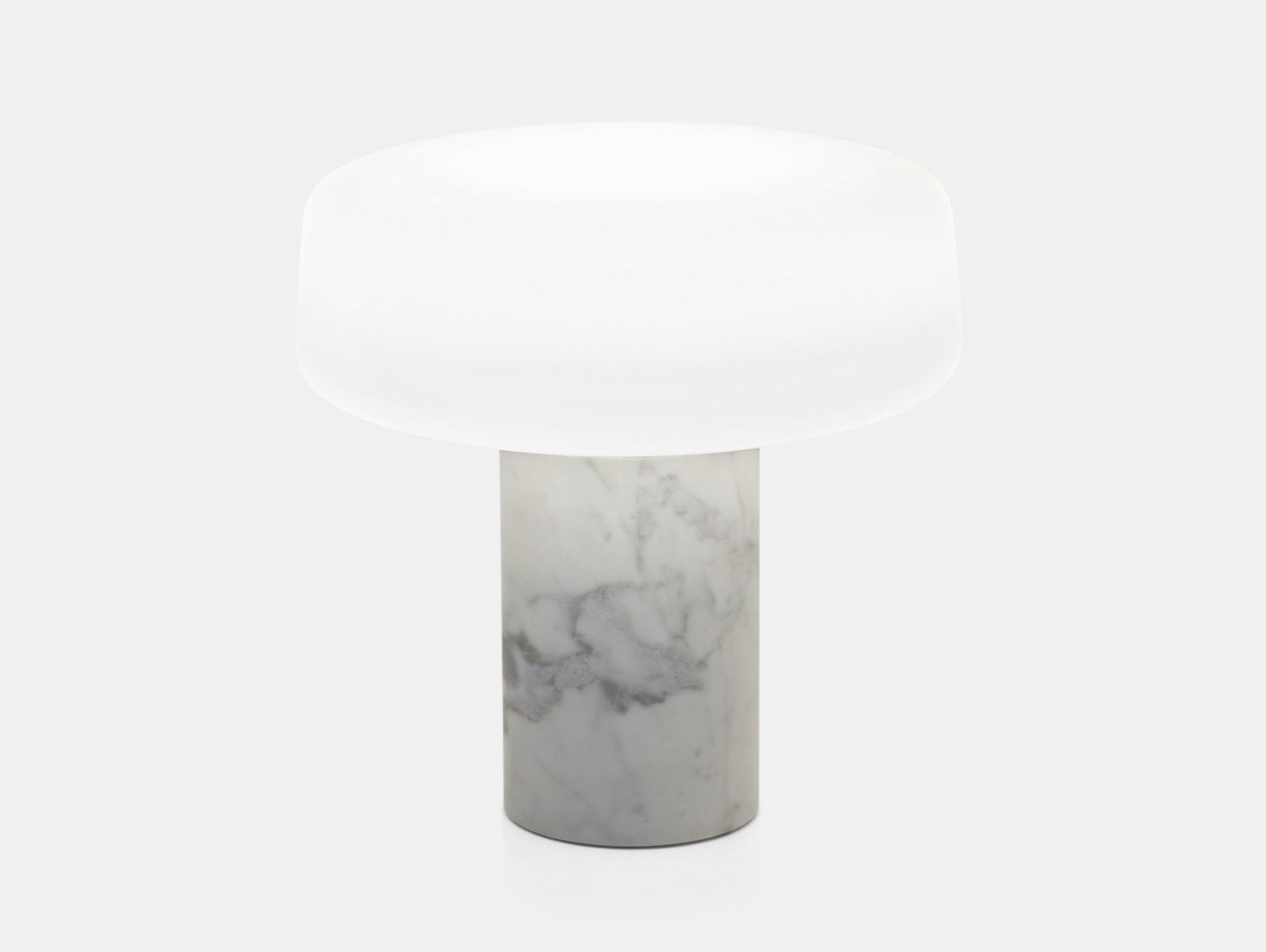 Terence Woodgate Solid Table Light large White Carrara Marble