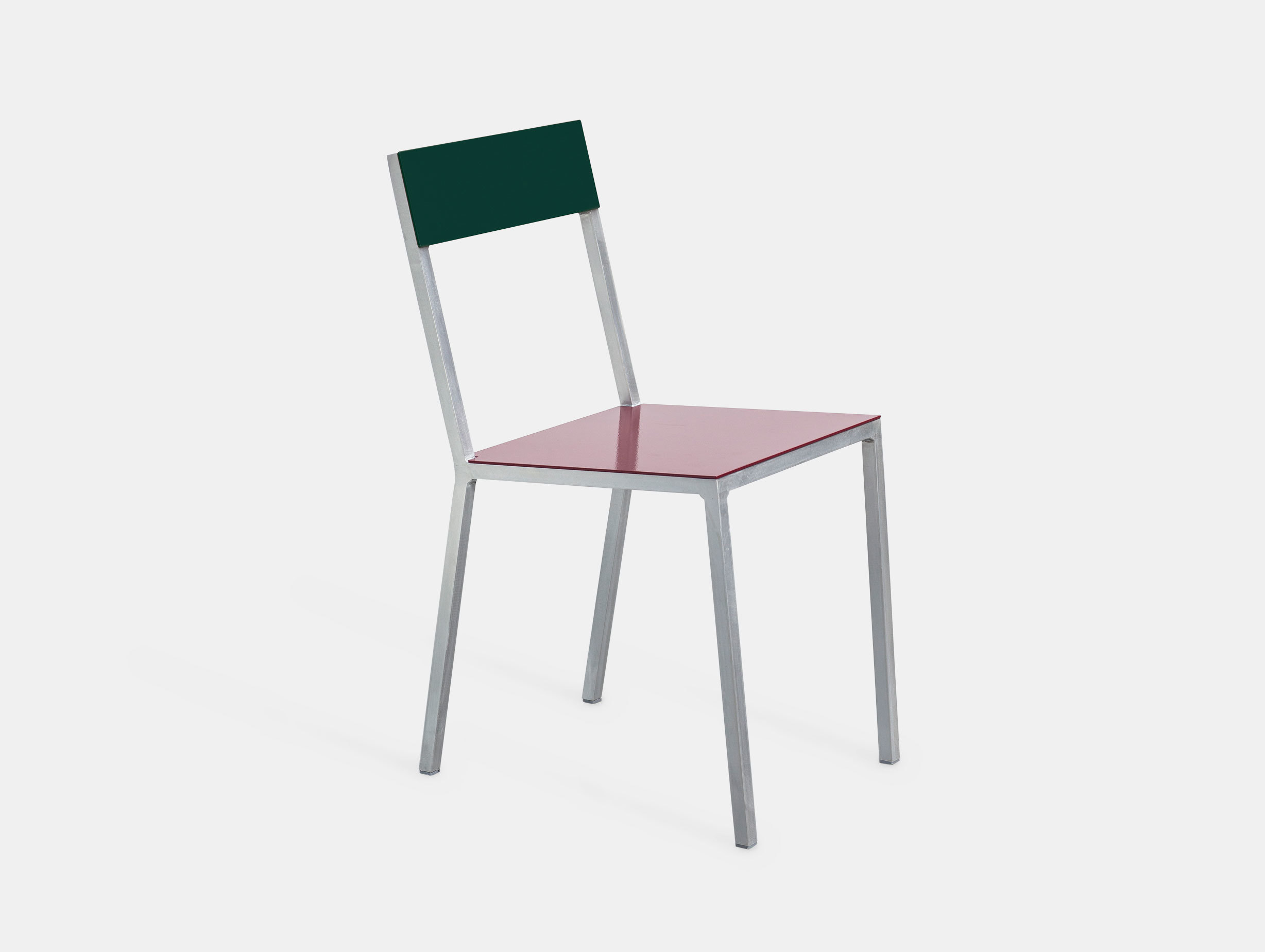 Valerie Objects Alu Chair Green Burgundy Muller Van Severen