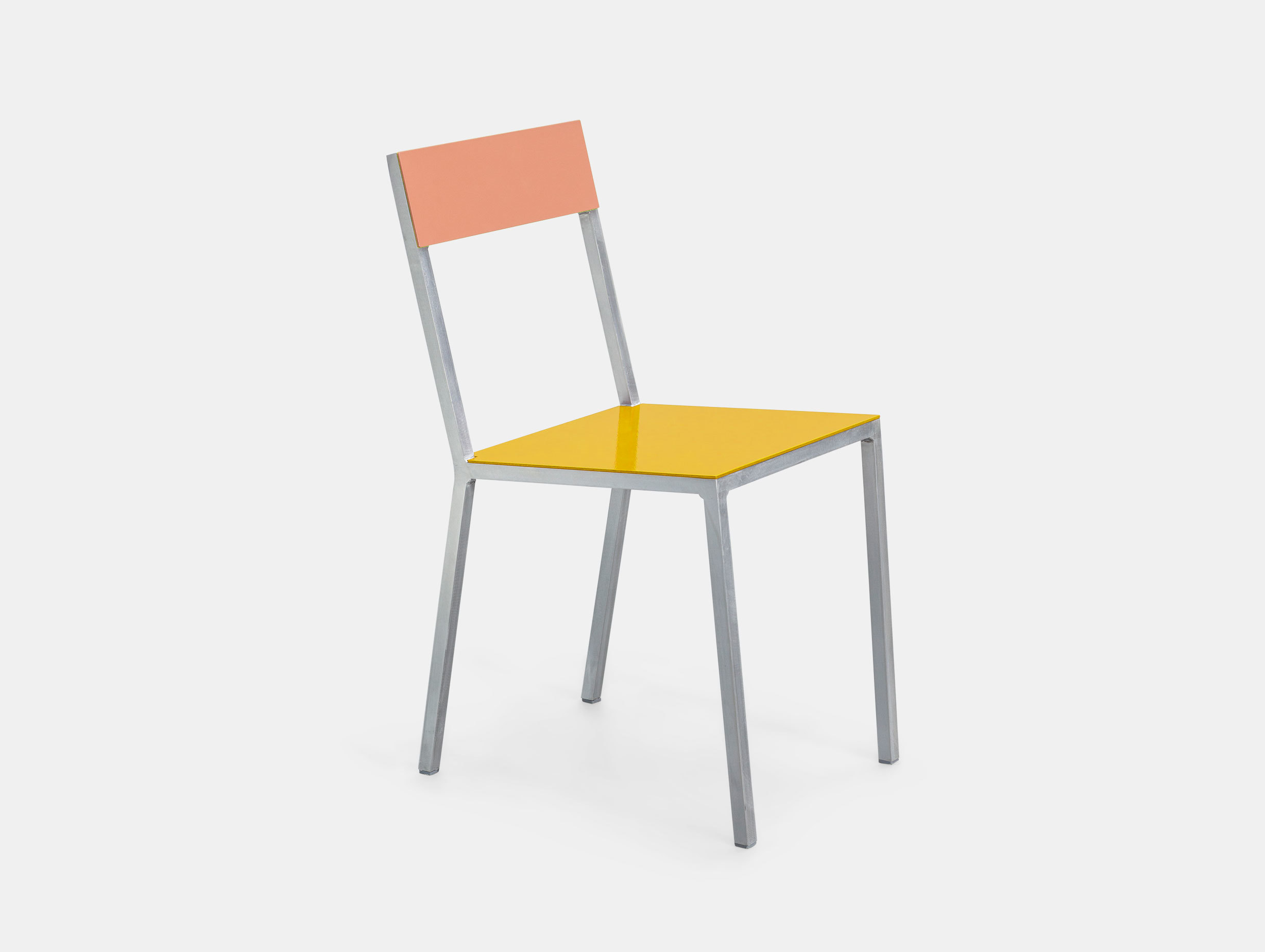 Valerie Objects Alu Chair Pink Yellow Muller Van Severen