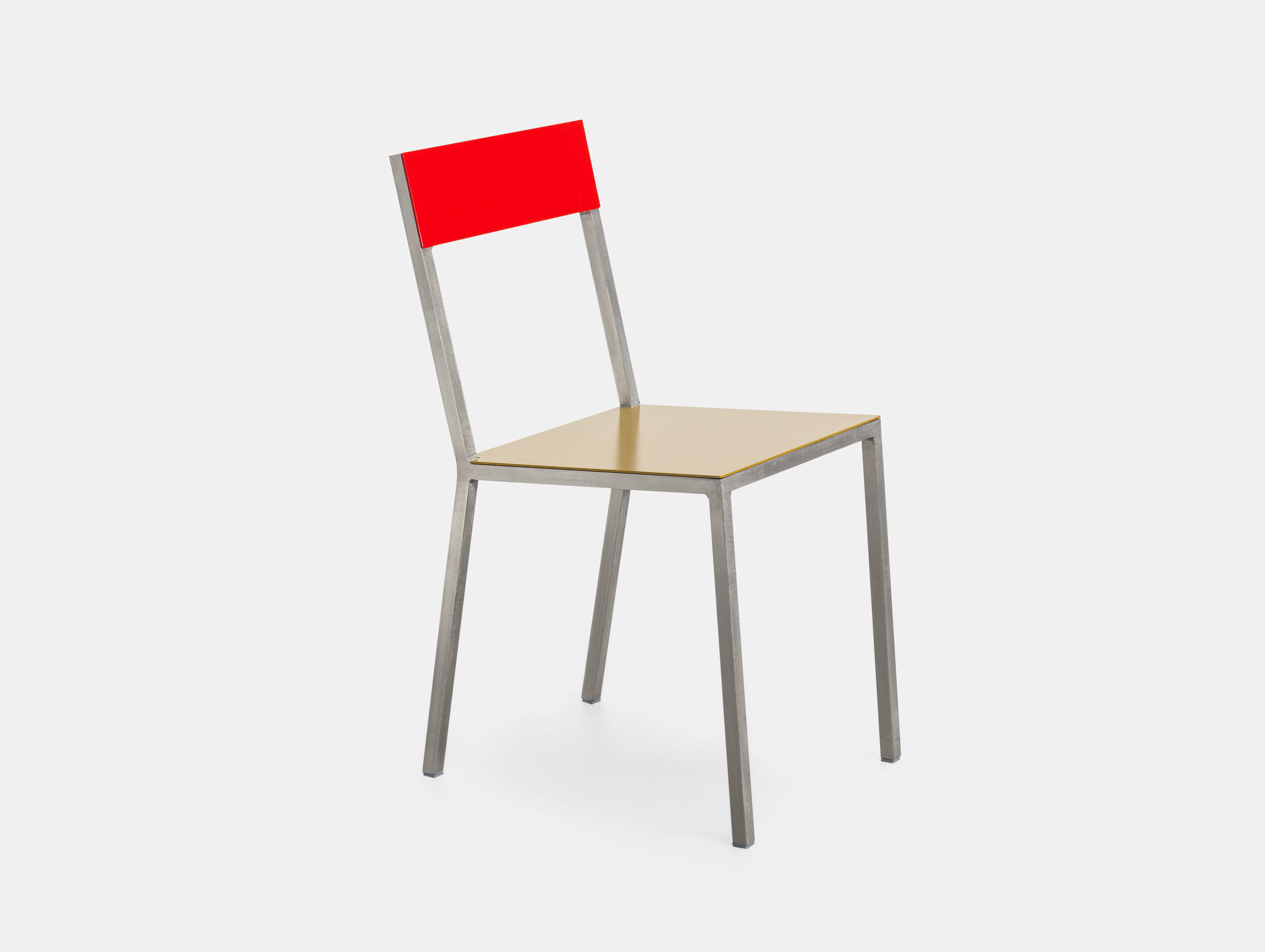 Valerie Objects Alu Chair Red Curry Muller Van Severen