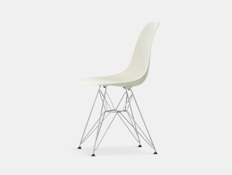 Vitra Eames Plastic Side Chair DSR pebble chrome legs