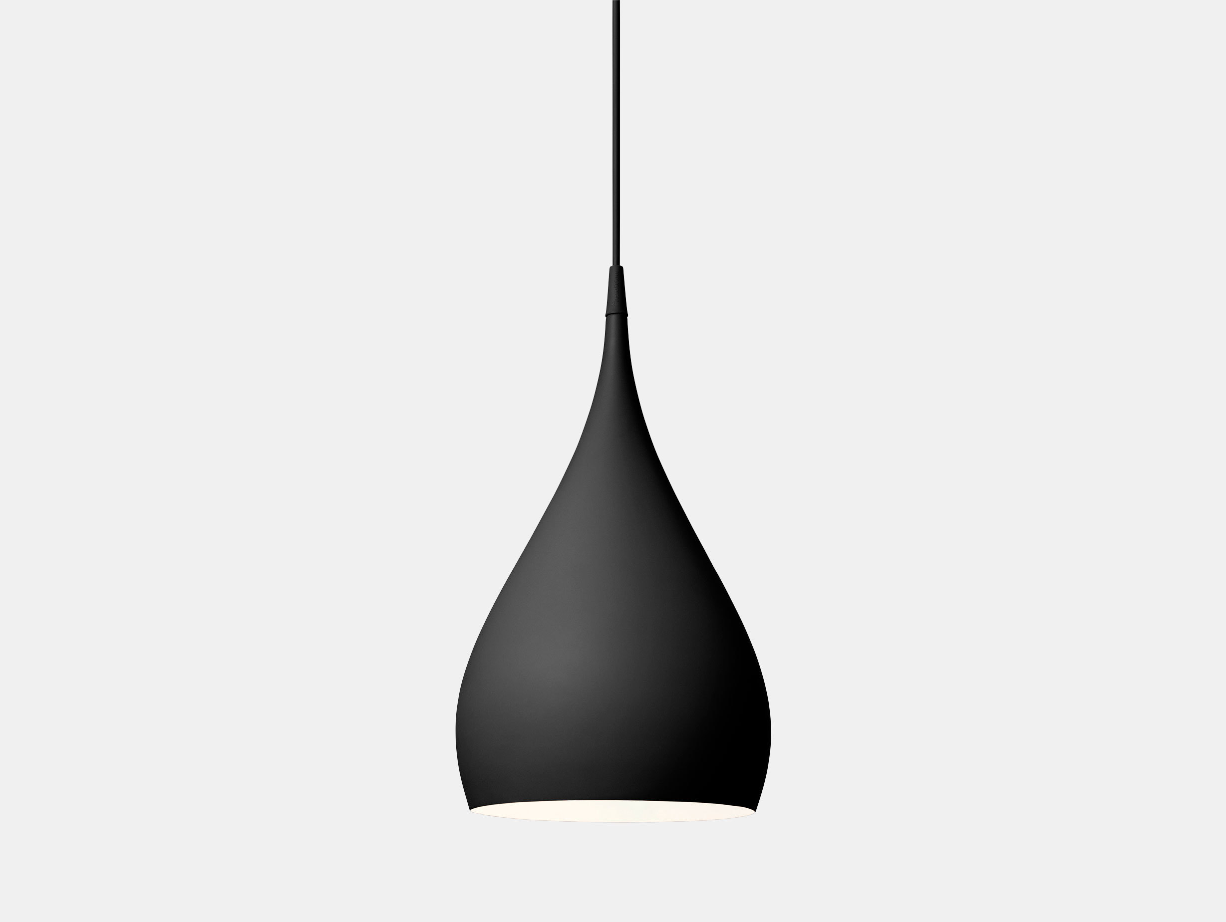 And Tradition Spinning Pendant Light Bh1 Black Benjamin Hubert