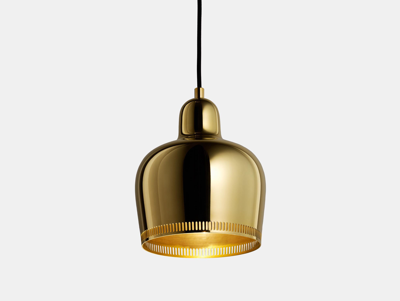 Golden Bell Pendant Light A330S image 1