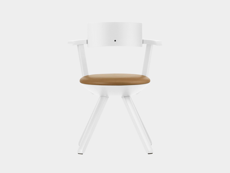 Artek Rival Chair Backrest White With Caramel Leather Konstantin Grcic