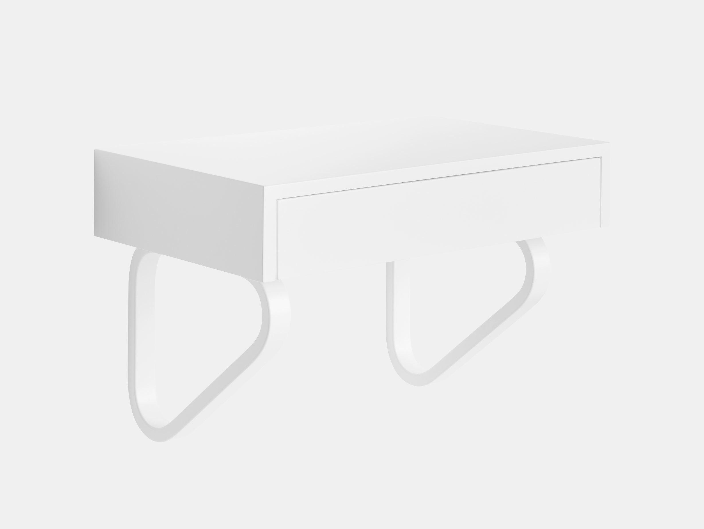 Artek 114 B Wall Drawer White Closed Alvar Aalto