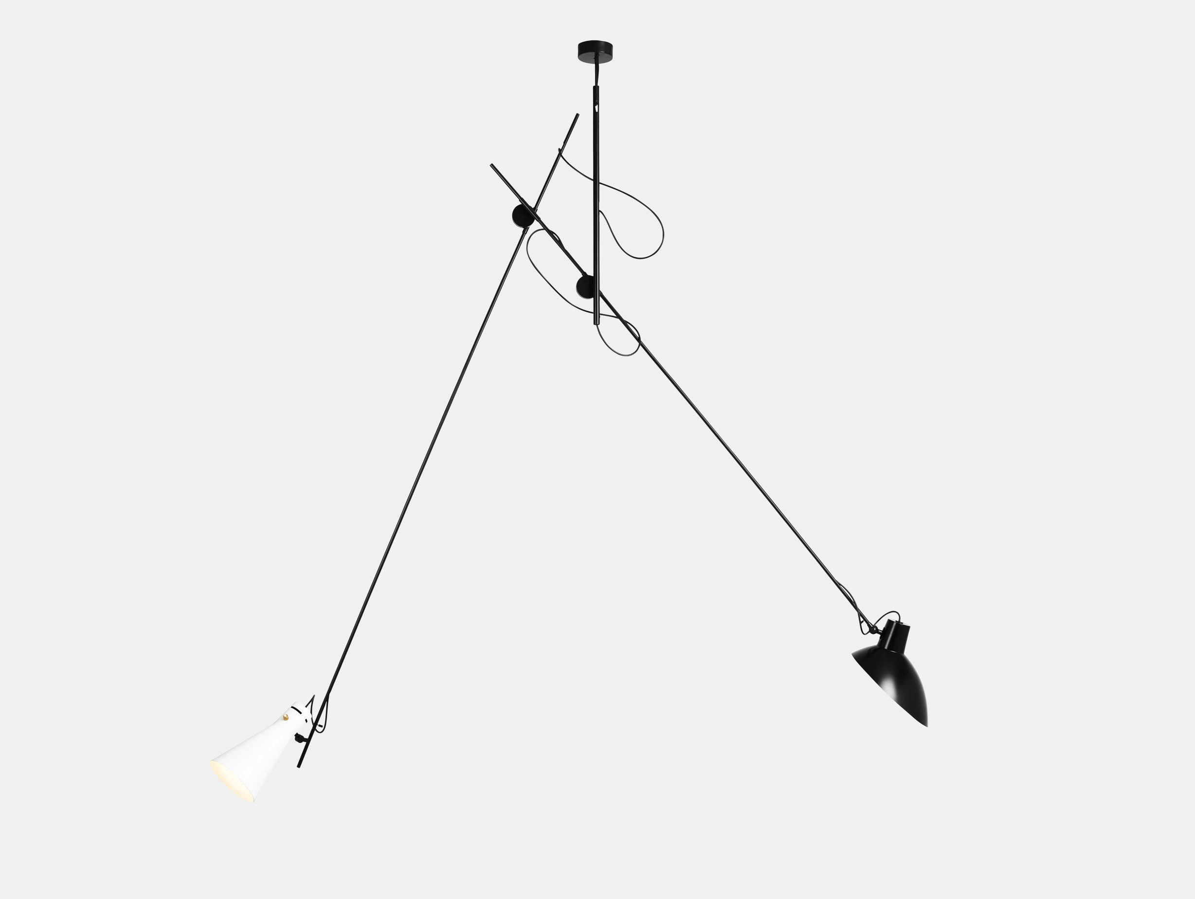 Astep Vv Cinquanta Suspension Light Black White Vittoriano Vigano