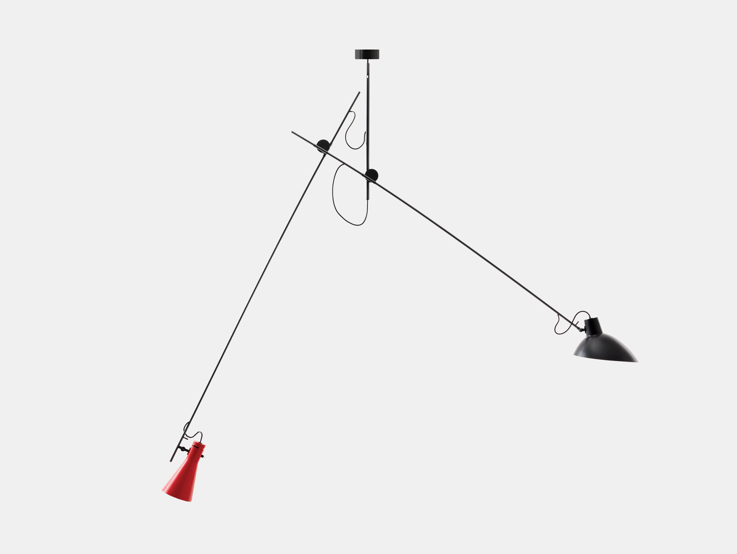 Astep Vv Cinquanta Suspension Light Red Black Vittoriano Vigano