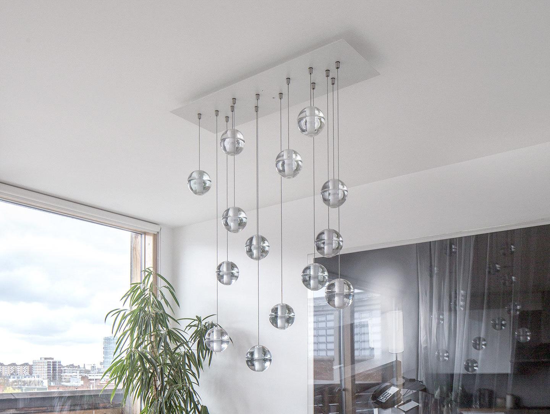 Bocci 14 Series Pendant Light Rectangular Ceiling Plate Omer Arbel