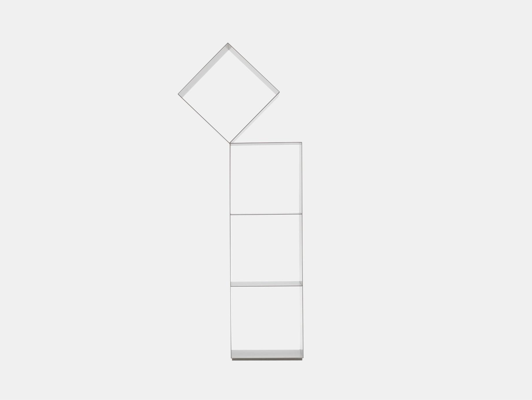Cappellini Drop Bookshelf 140 White Nendo