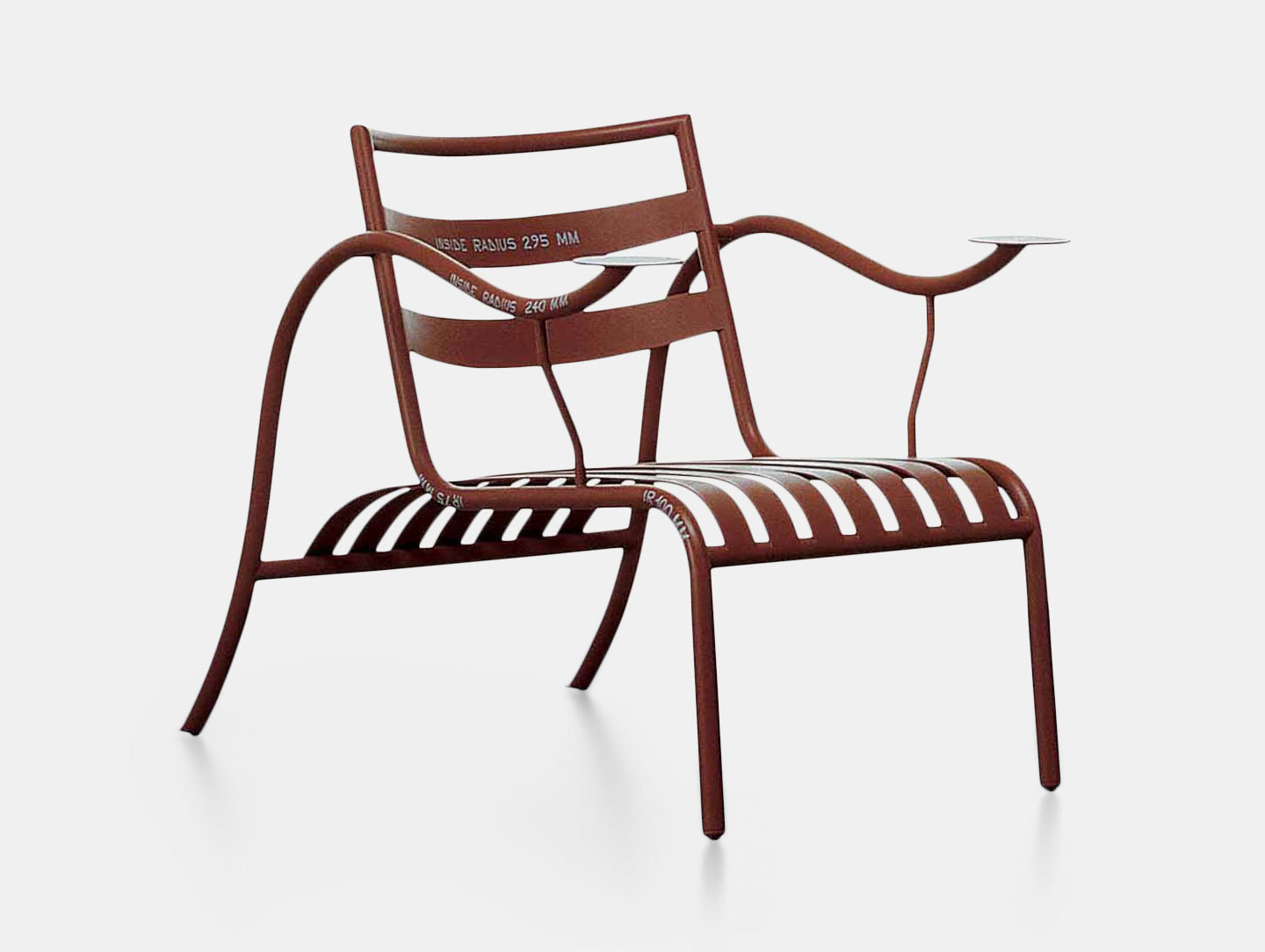 Cappellini Thinking Mans Chair Terracotta With Writing Jasper Morrison