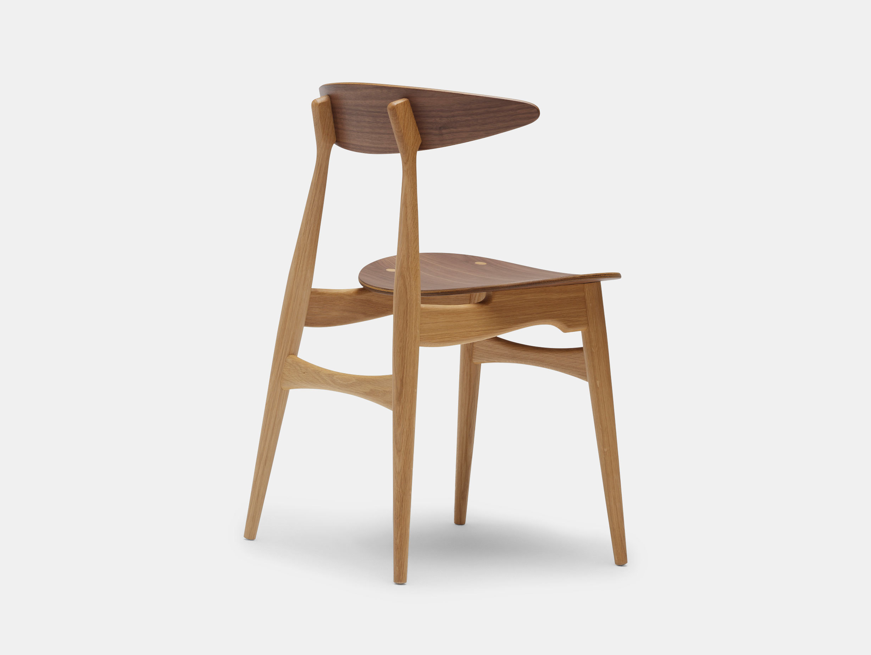 Carl Hansen Ch33 Chair Walnut Oak Back Hans Wegner