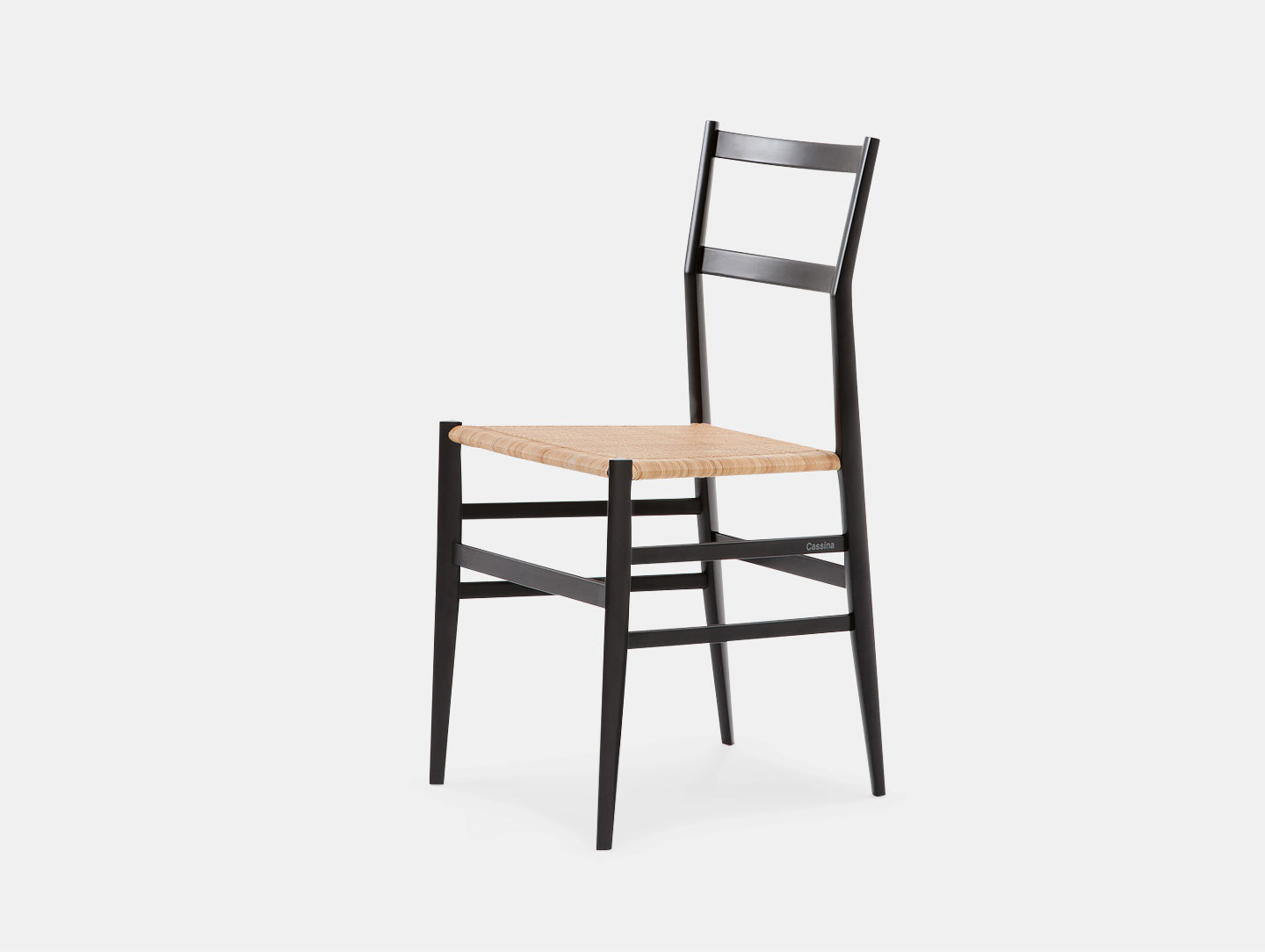 Cassina Superleggera Chair Black Ash Gio Ponti