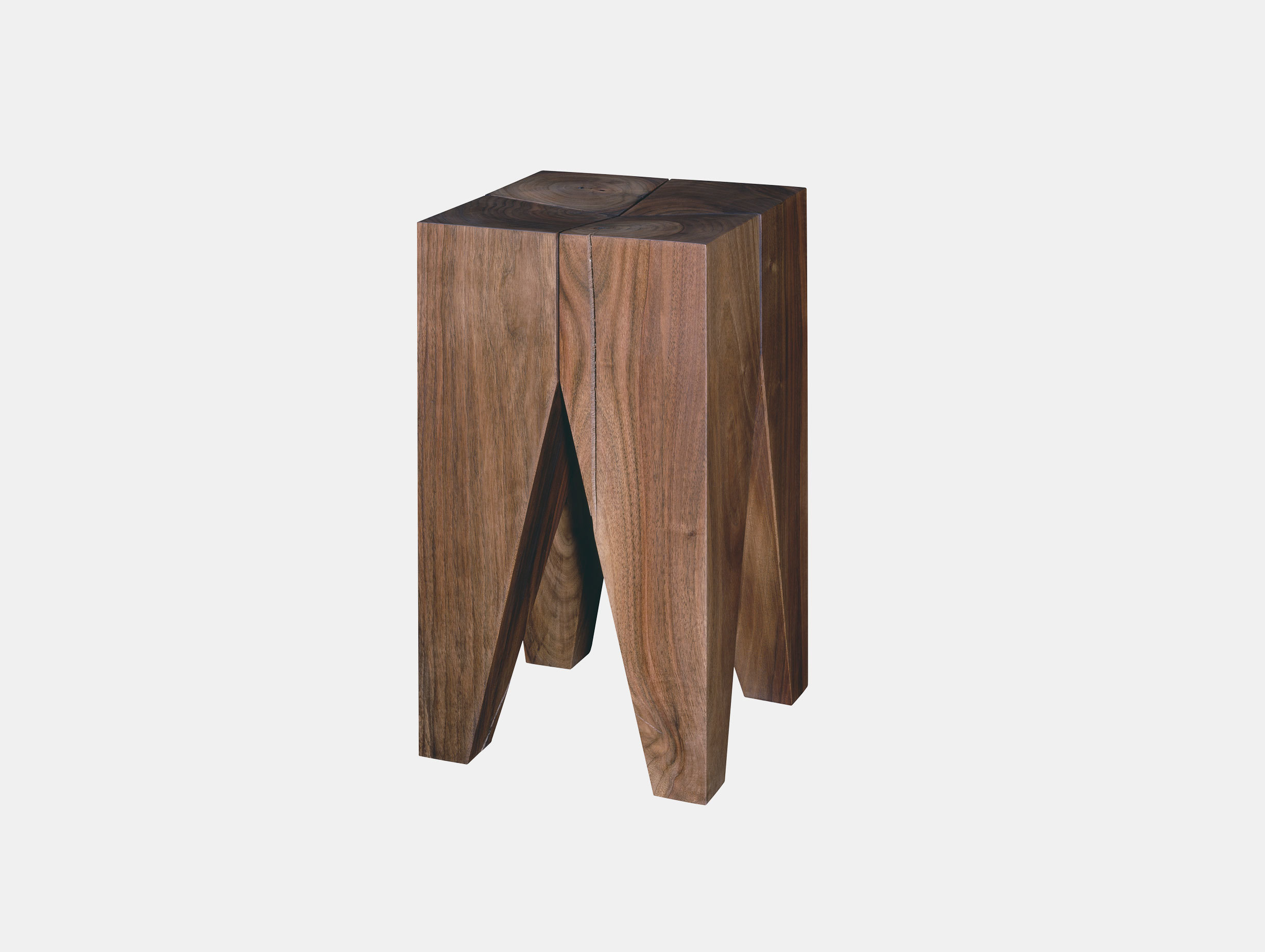 E15 Backenzahn Stool Walnut Philipp Mainzer