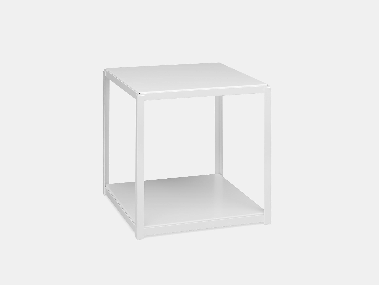 E15 Fortyforty Side Table With White Base Ferdinand Kramer