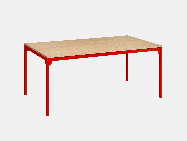 E15 Frankfurt Table Oak Red Ferdinand Kramer