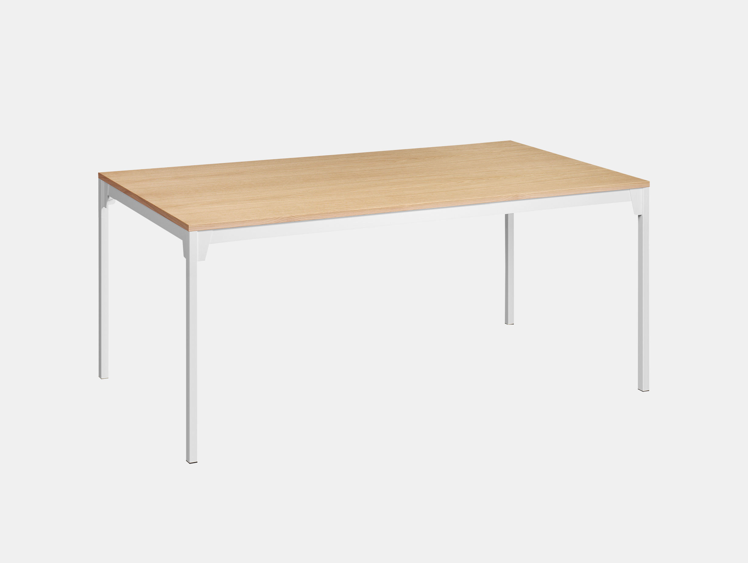 E15 Frankfurt Table Oak White Ferdinand Kramer