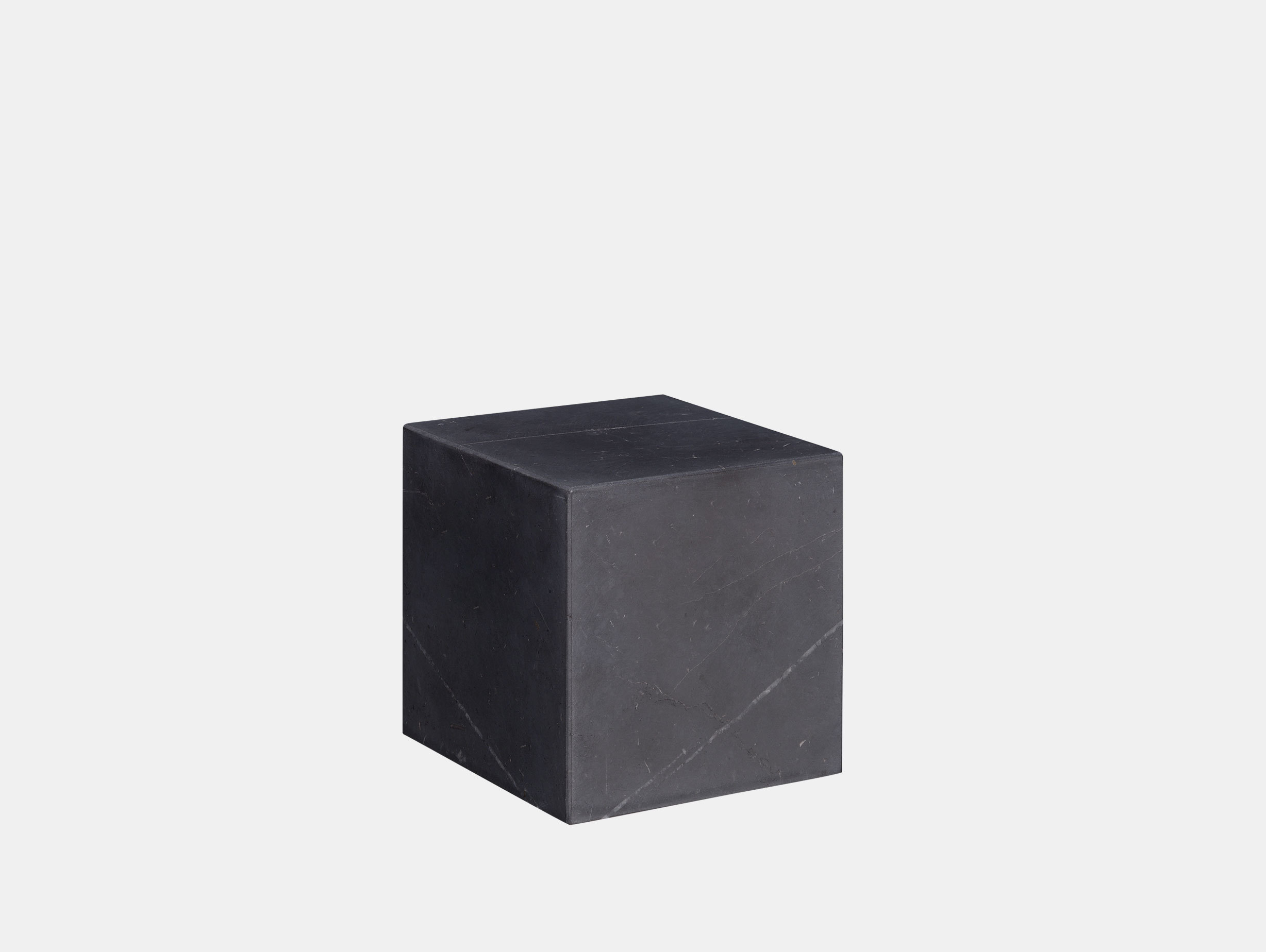E15 Stop Bookend Cube Black Marble Philipp Mainzer
