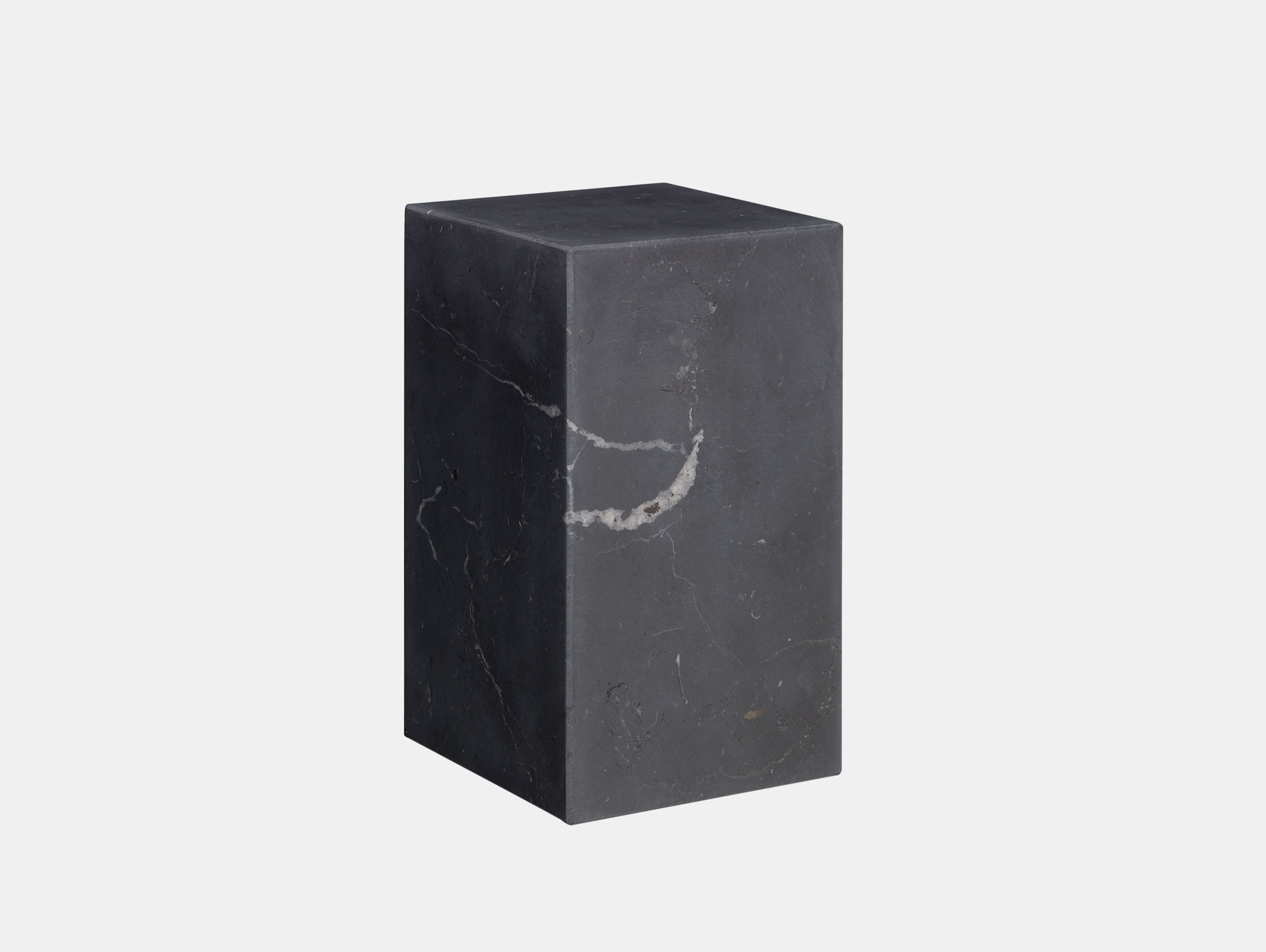 E15 Stop Bookend Tall Black Marble Philipp Mainzer