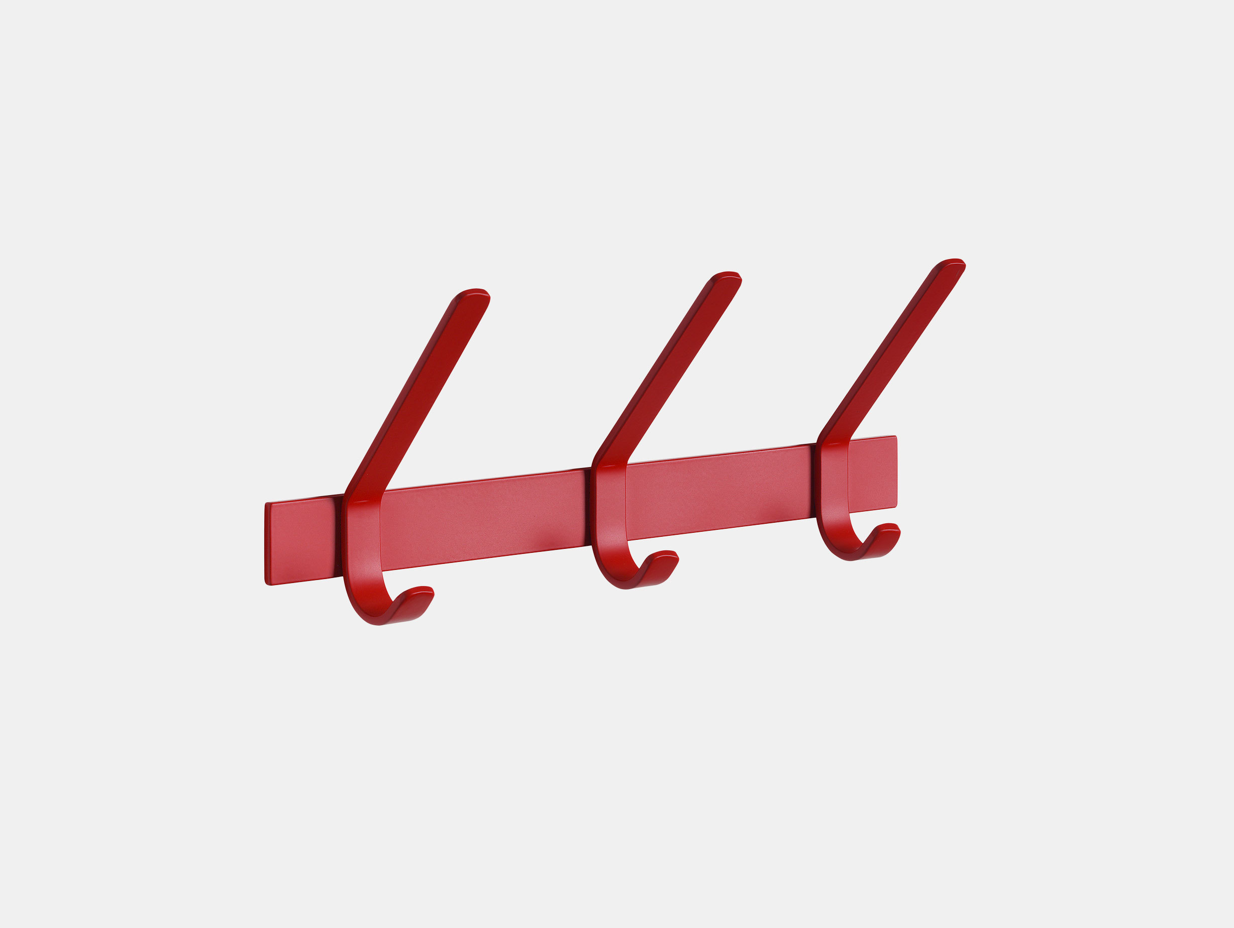E15 Uni Coat Rack 3 Hook Red Ferdinand Kramer