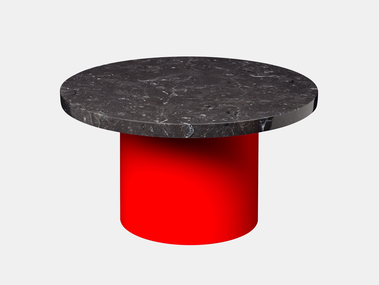 E15 Enoki Side Table Red Black Marble Lg Philipp Mainzer