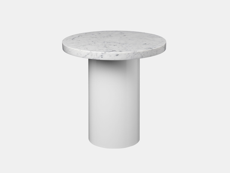 E15 Enoki Side Table White White Marble Sm Philipp Mainzer