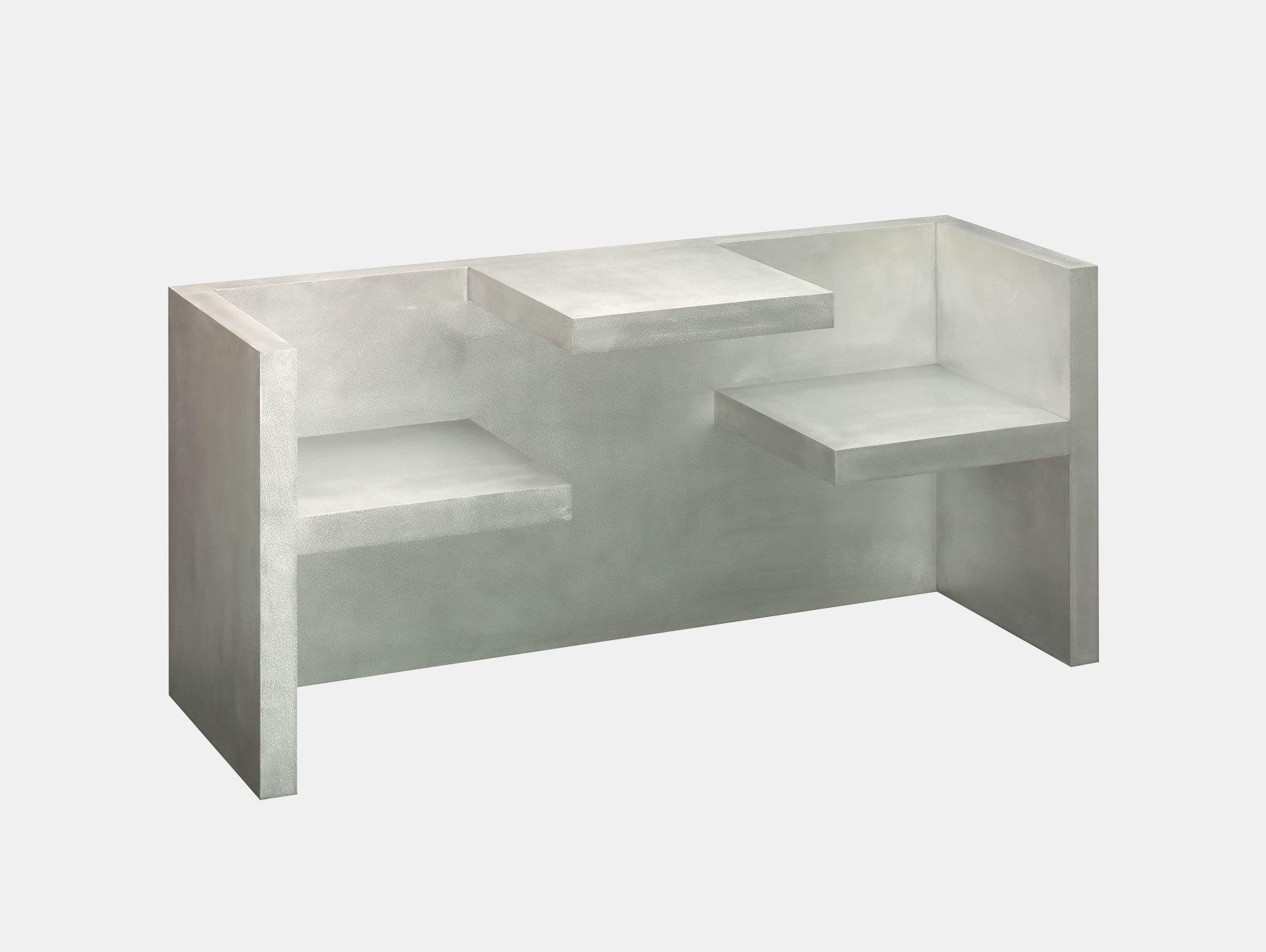 E15 Tafel Bench Aluminium Hans De Pelsmacker
