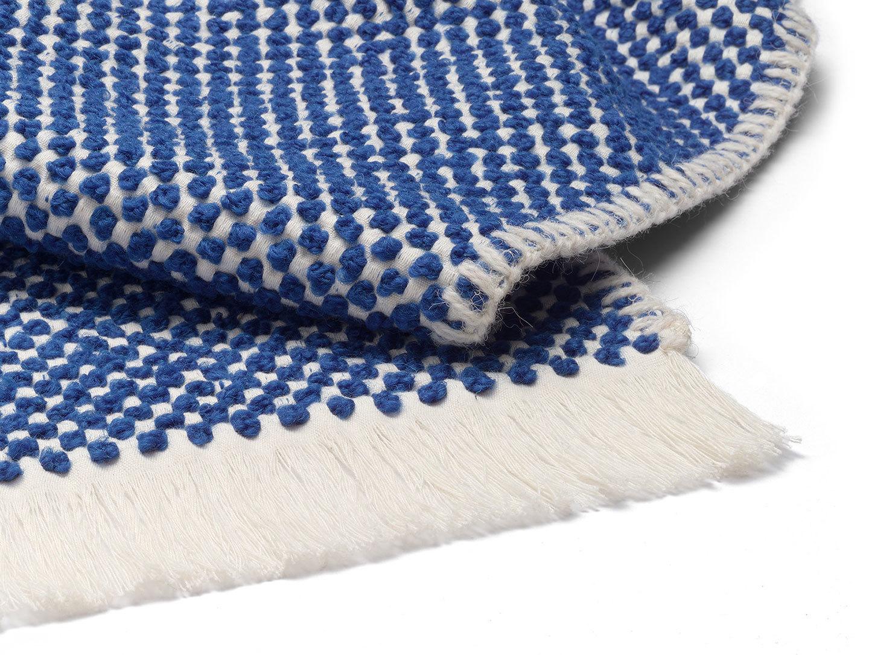 E15 Dotto Blanket Blue Detail