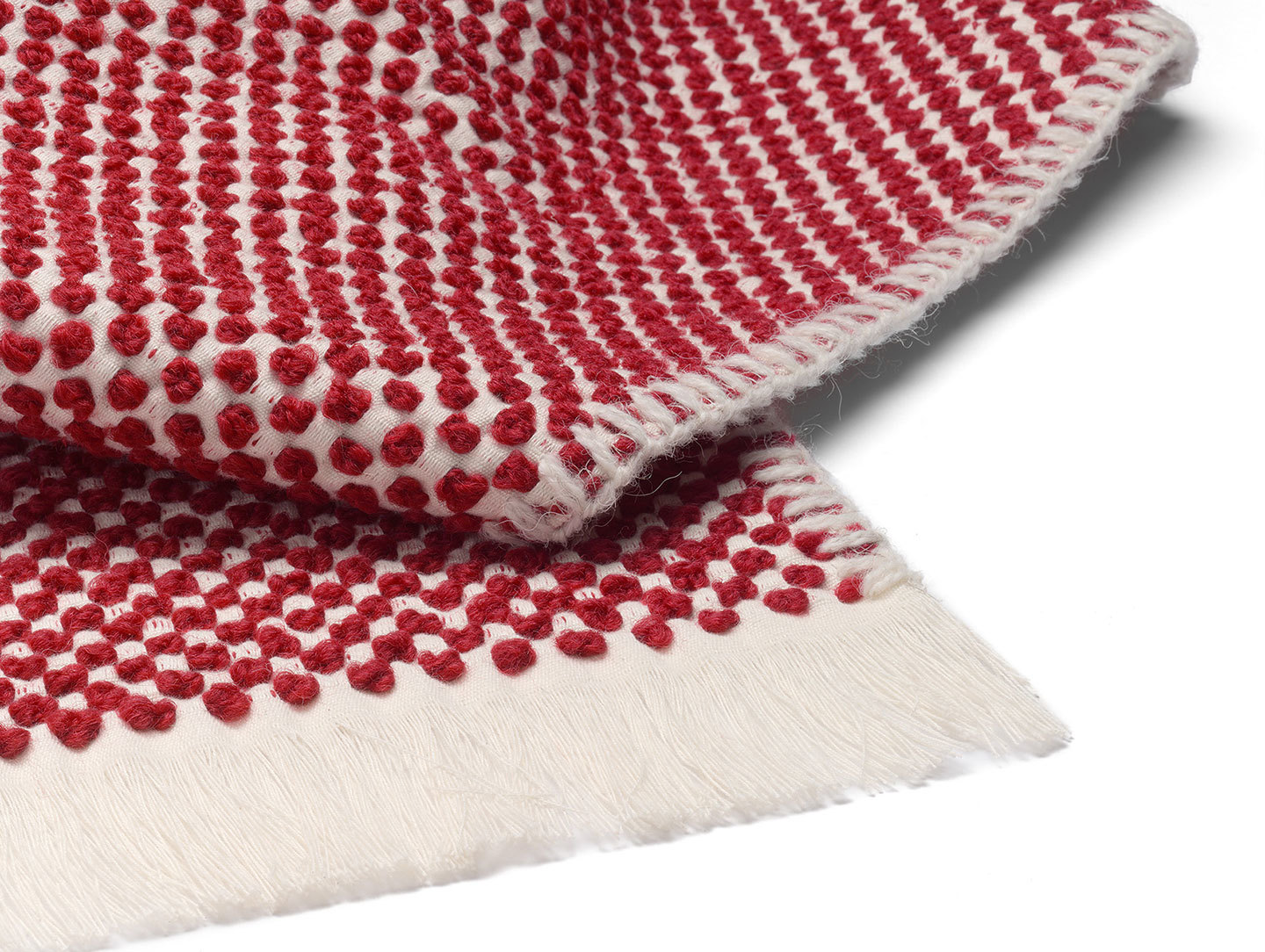 E15 Dotto Blanket Red Detail