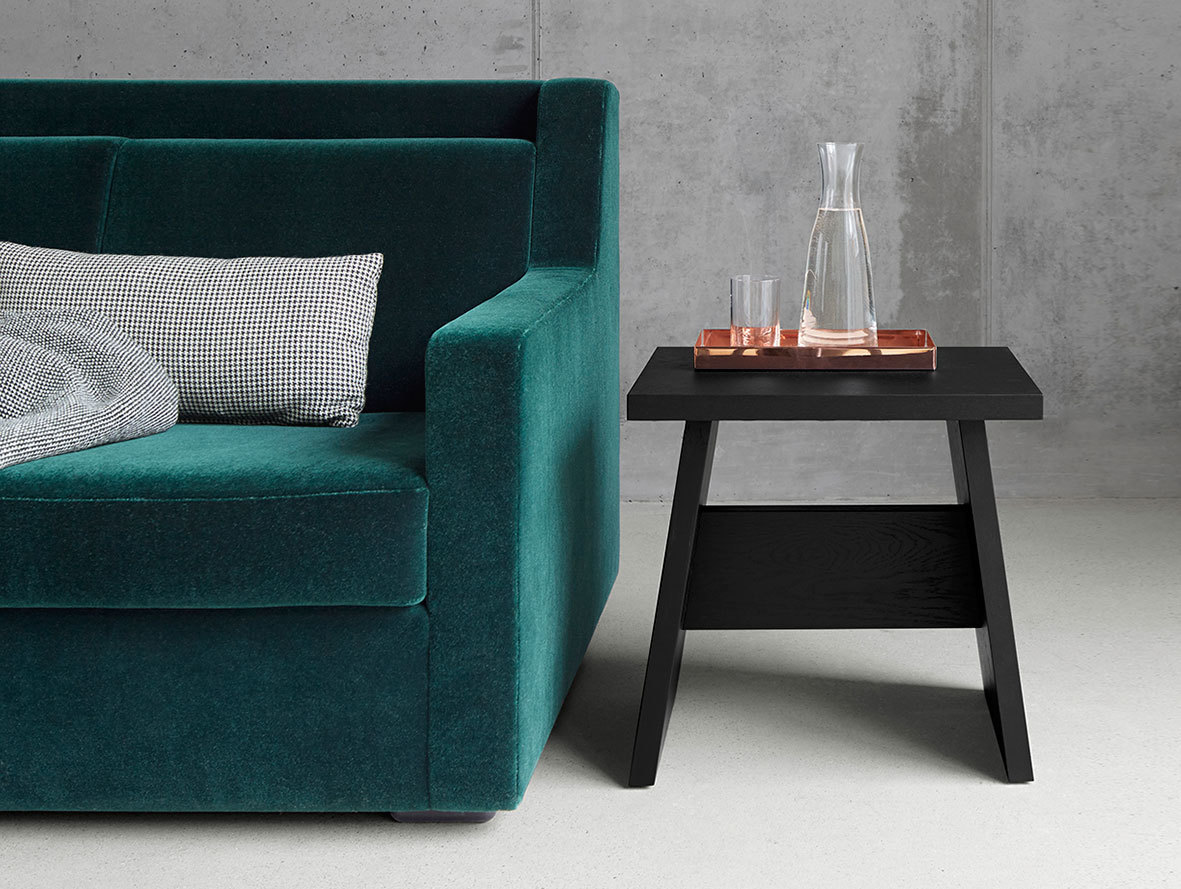 E15 Langley Stool Black Side Table David Chipperfield