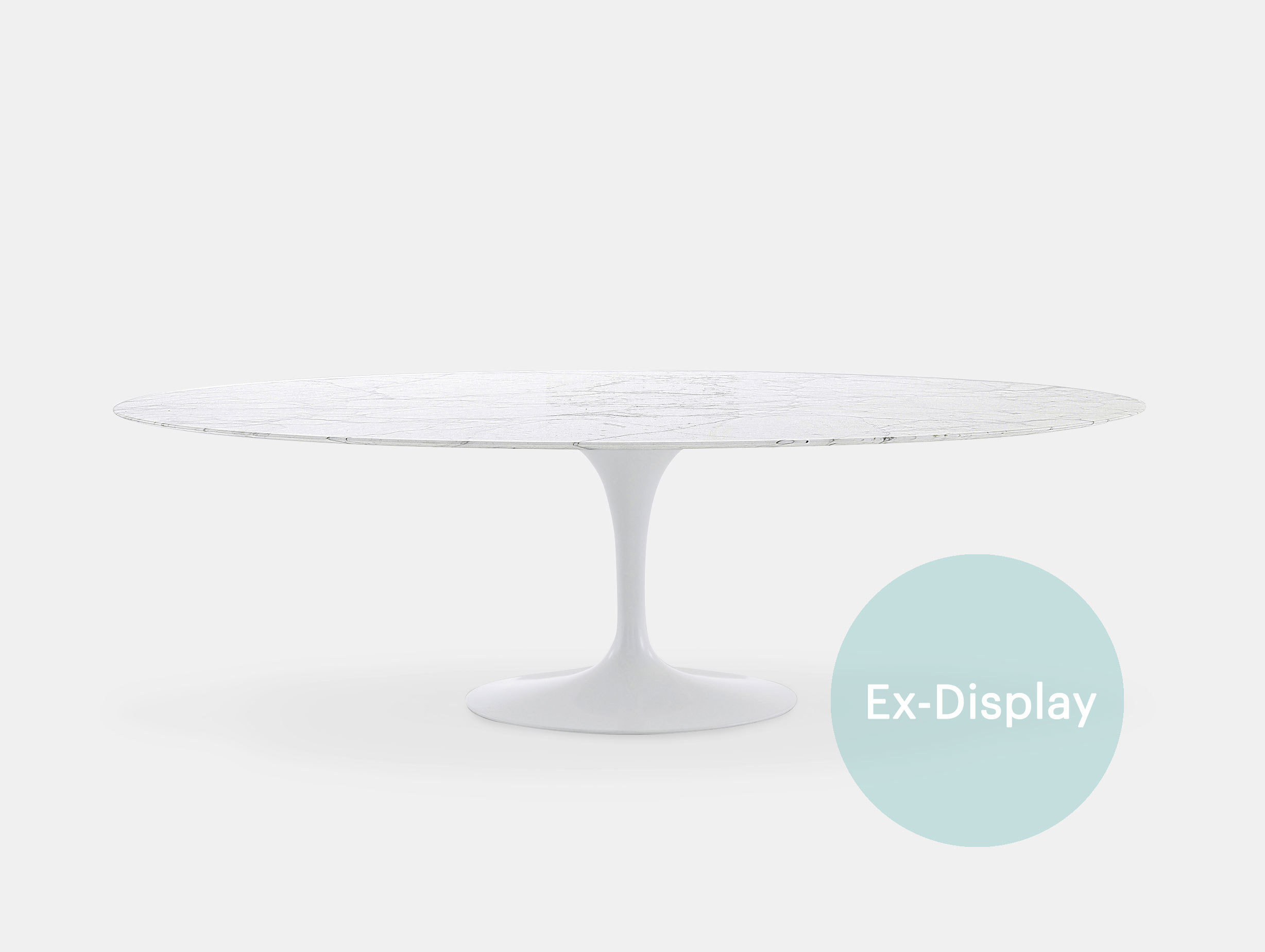 Knoll Saarinen Oval Marble Dining Table Ex Display