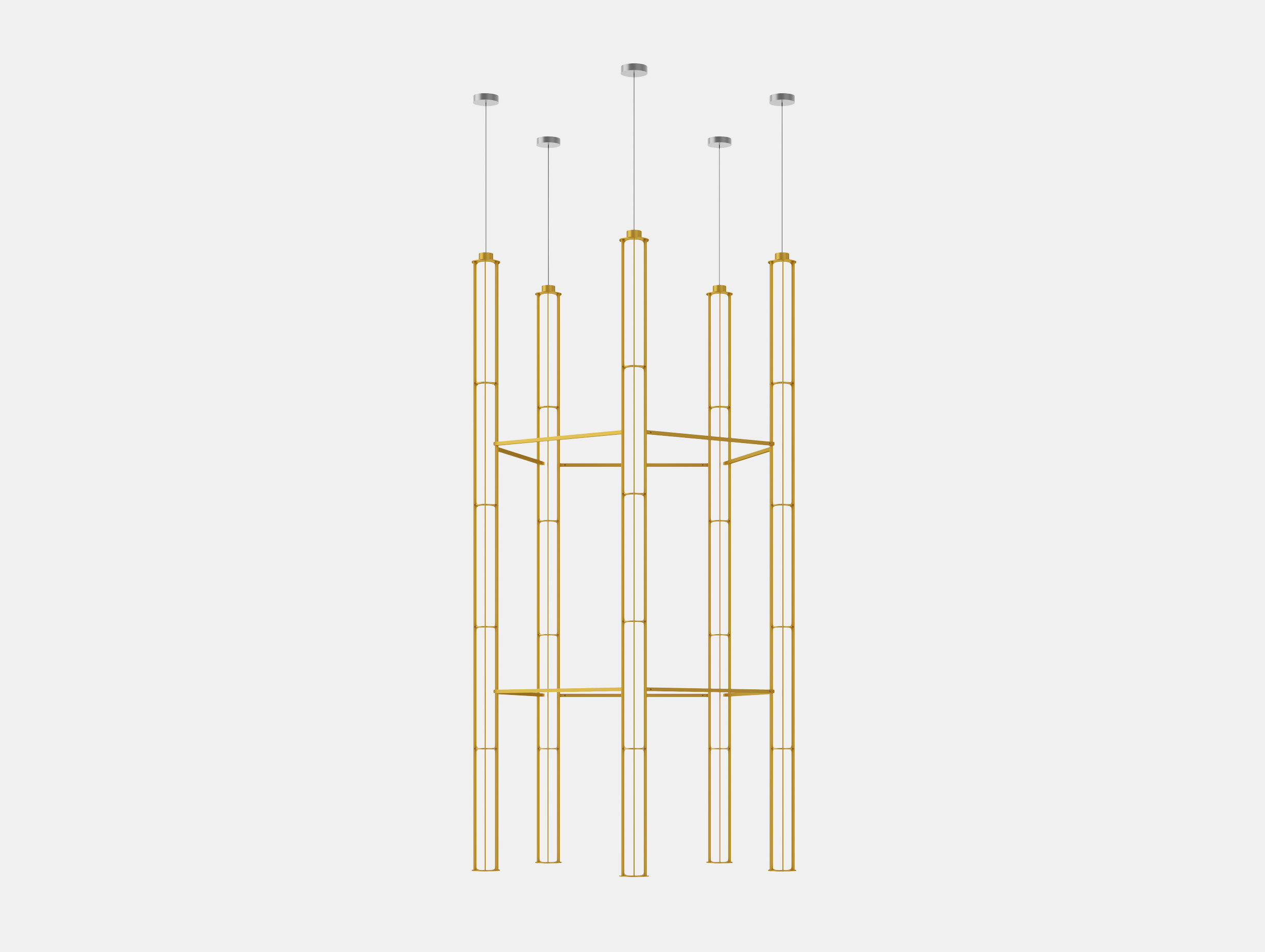 Flos Verticale Suspension Light 5 Yellow Ronan Erwan Bouroullec
