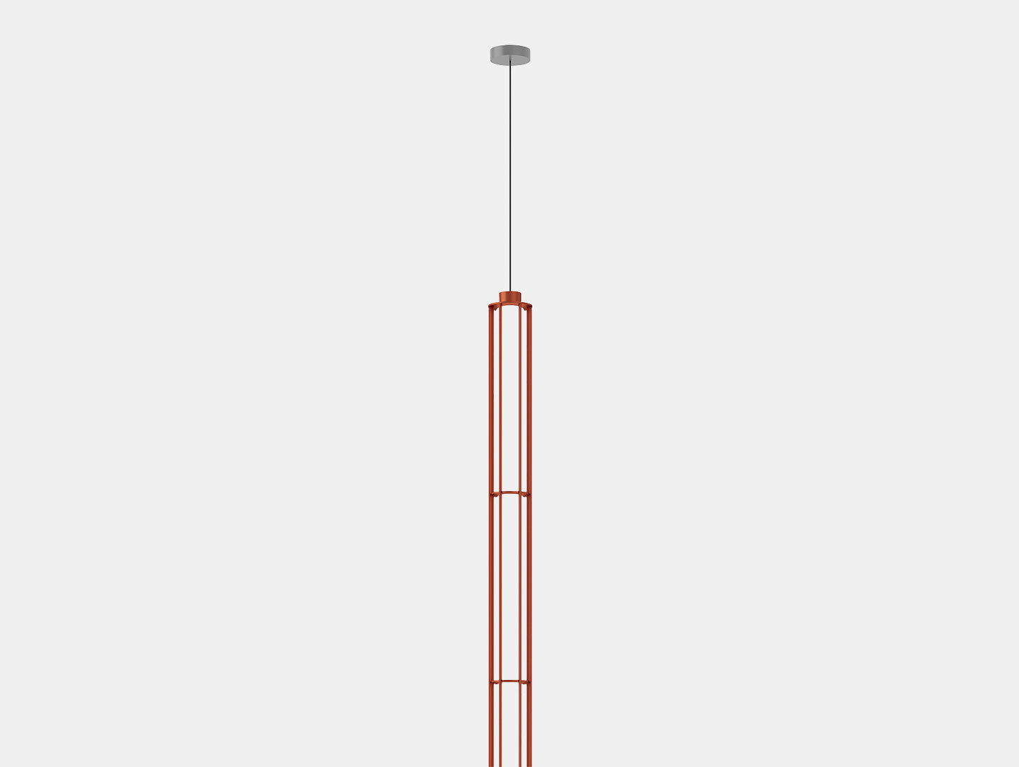 Flos Verticale Suspension Light Single Red Det Ronan Erwan Bouroullec