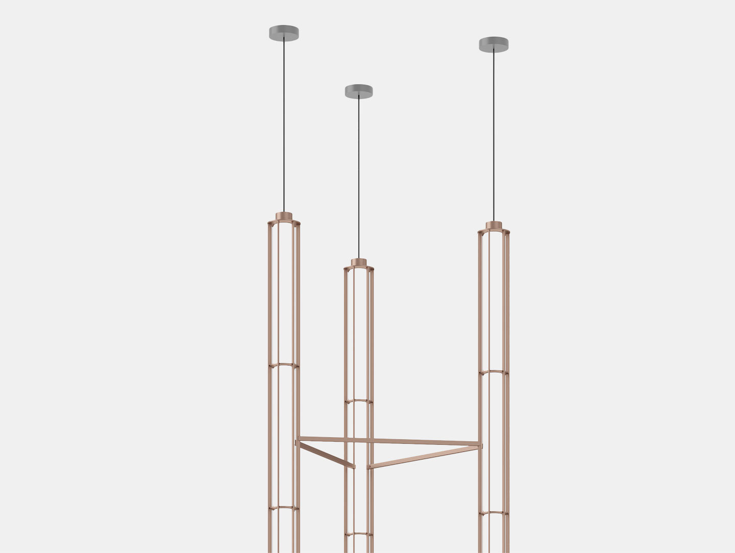 Flos Verticale Suspension Light Triple Det Ronan Erwan Bouroullec