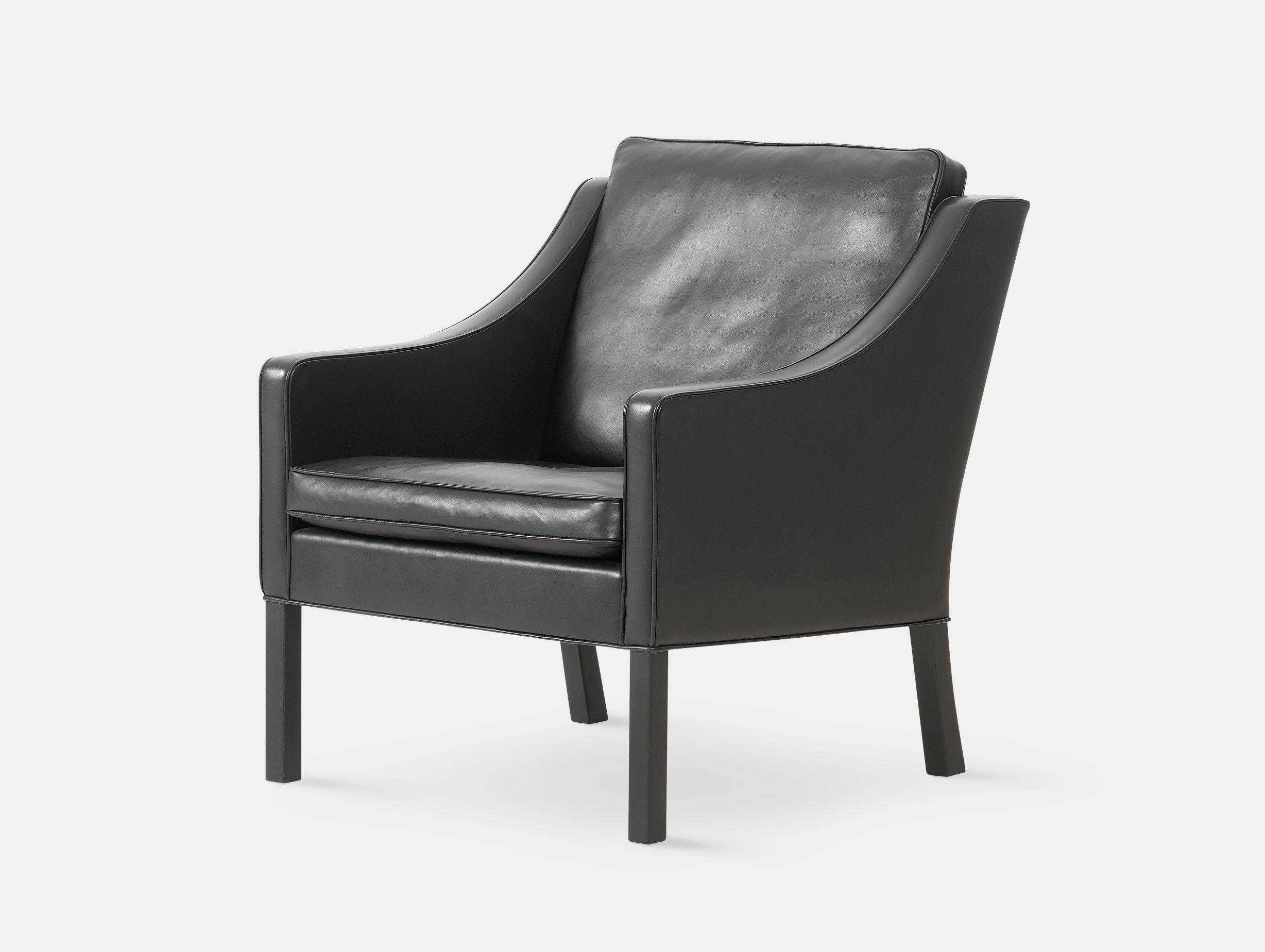 Fredericia 2207 Lounge Chair Black Borge Mogensen