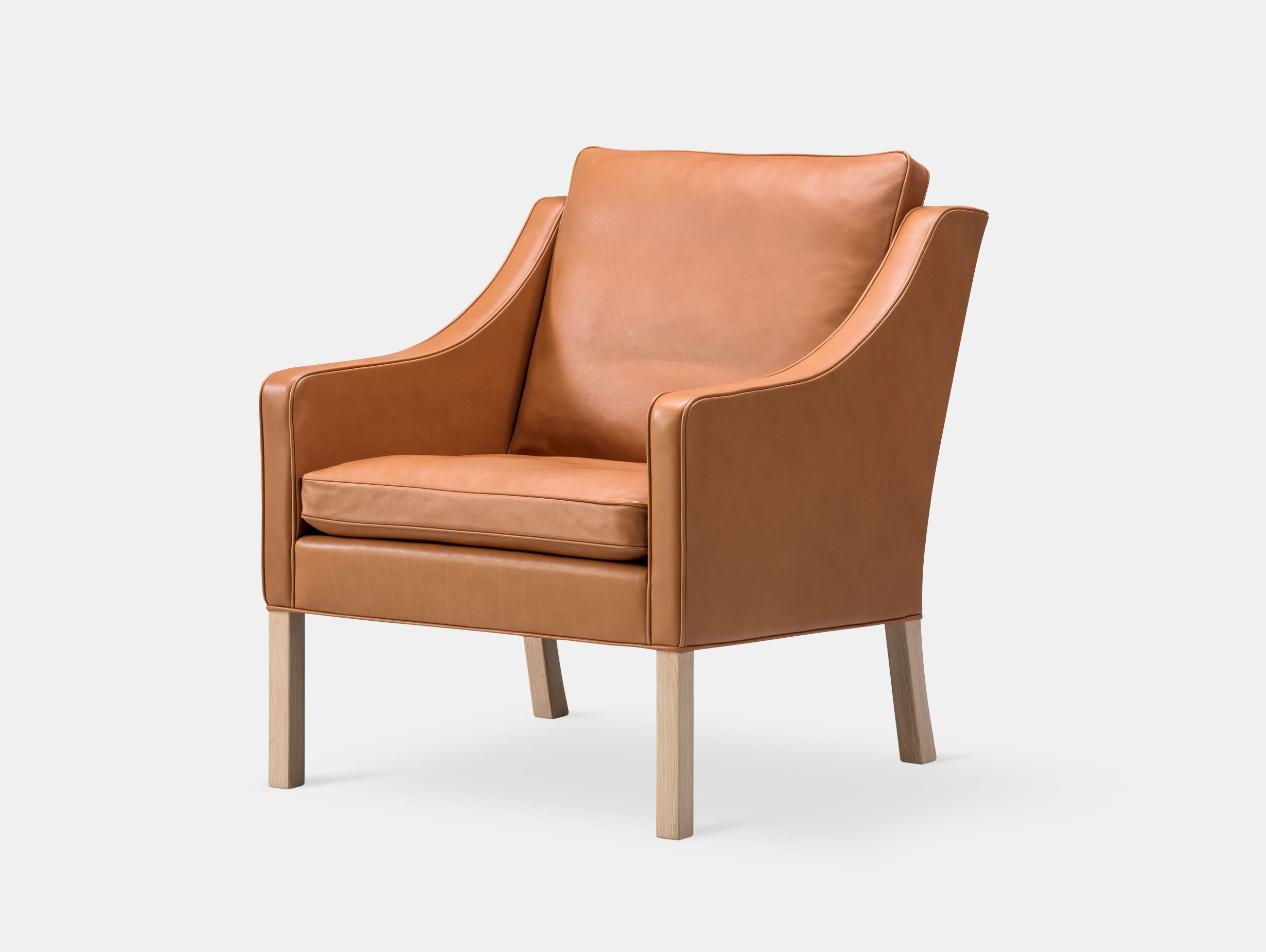 Fredericia 2207 Lounge Chair Oak Borge Mogensen