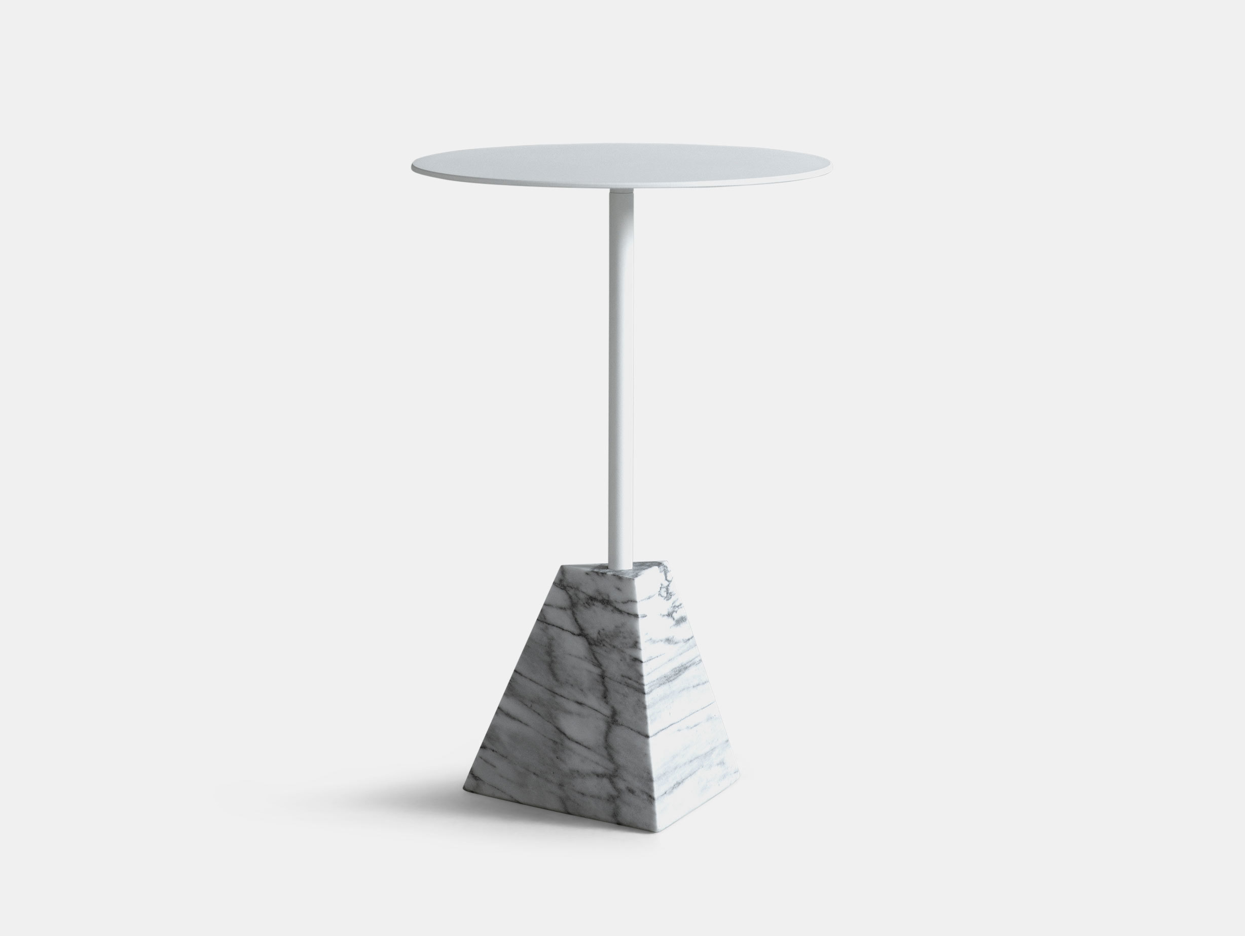 Friends Founders Knockout Side Table Pyramid White Ida Linea Hildebrand