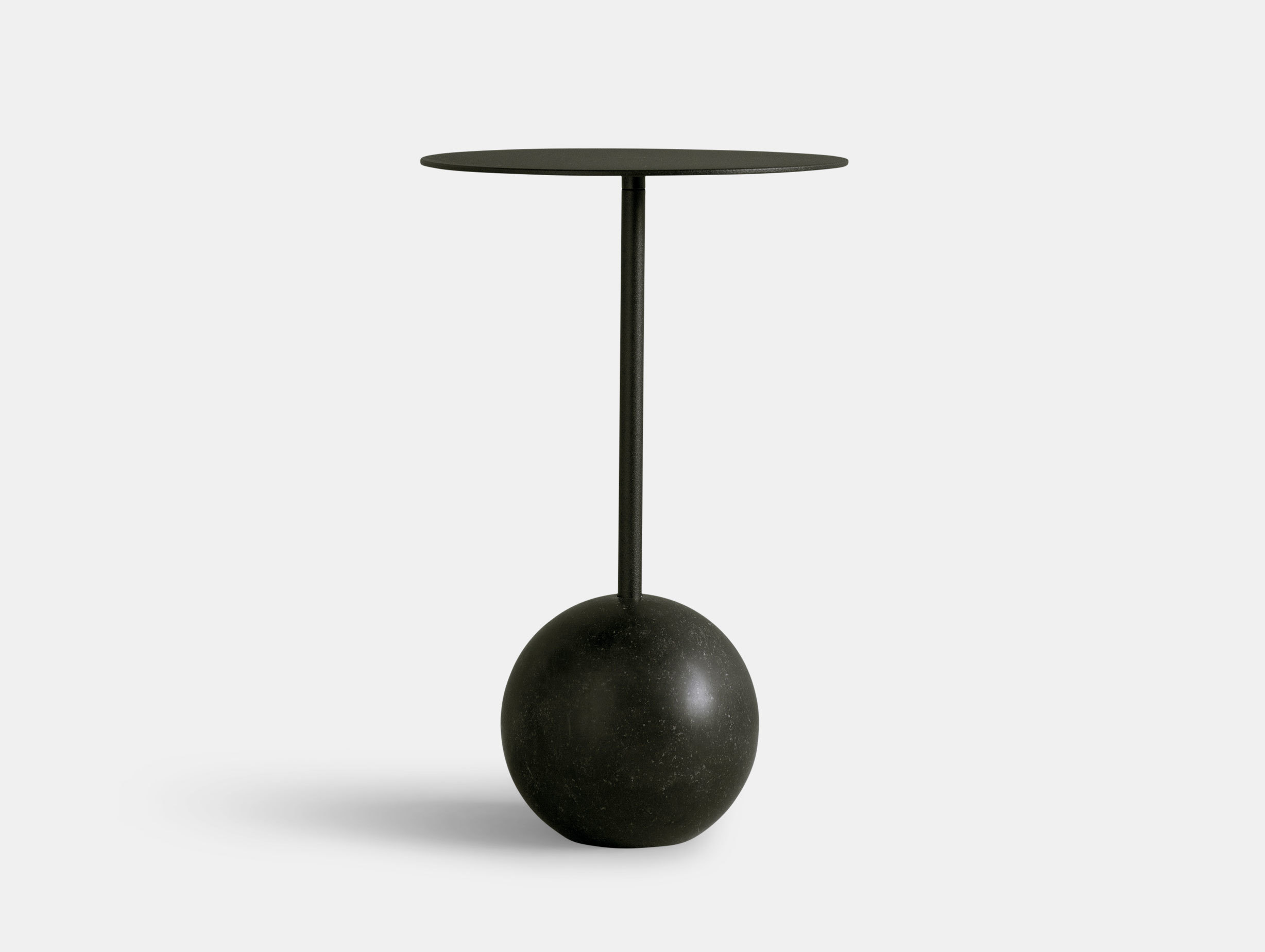 Friends Founders Knockout Side Table Round Black Ida Linea Hildebrand