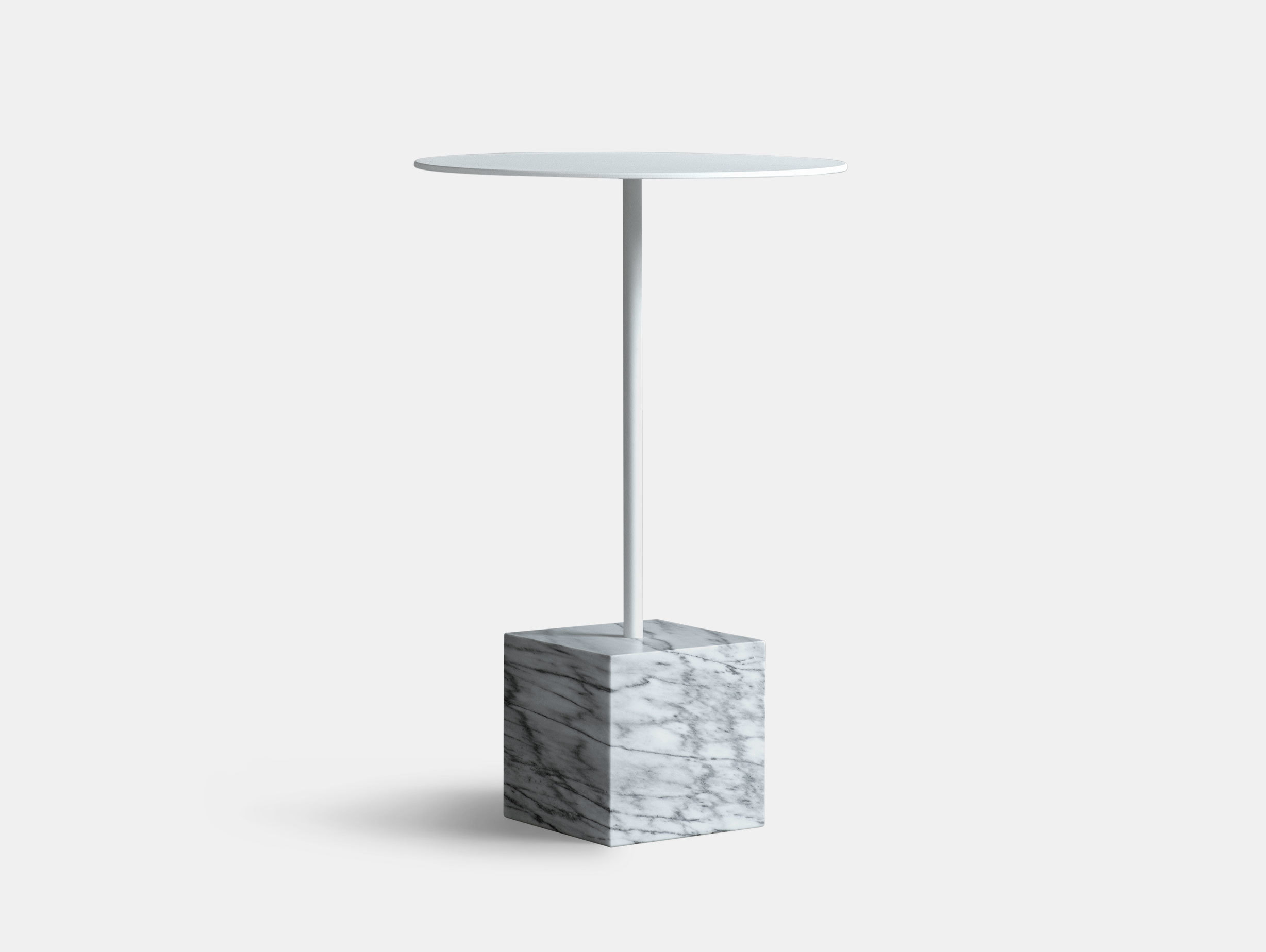 Friends Founders Knockout Side Table Square White Ida Linea Hildebrand