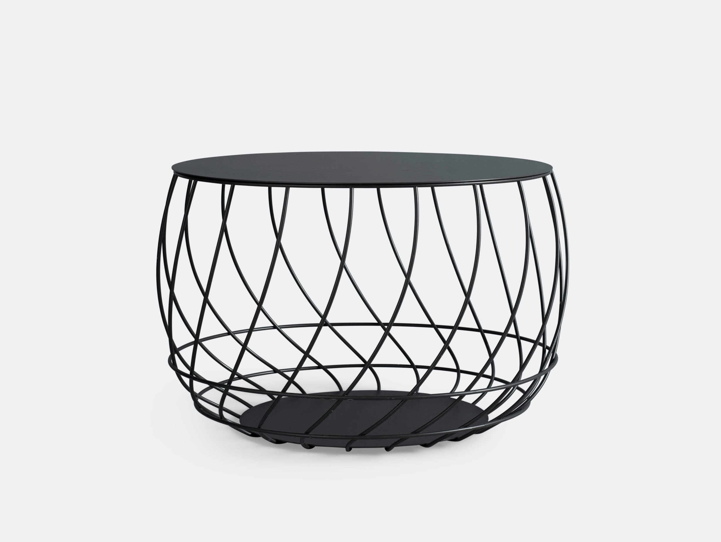 Friends Founders Spin Coffee Table Black Ida Linea Hildebrand