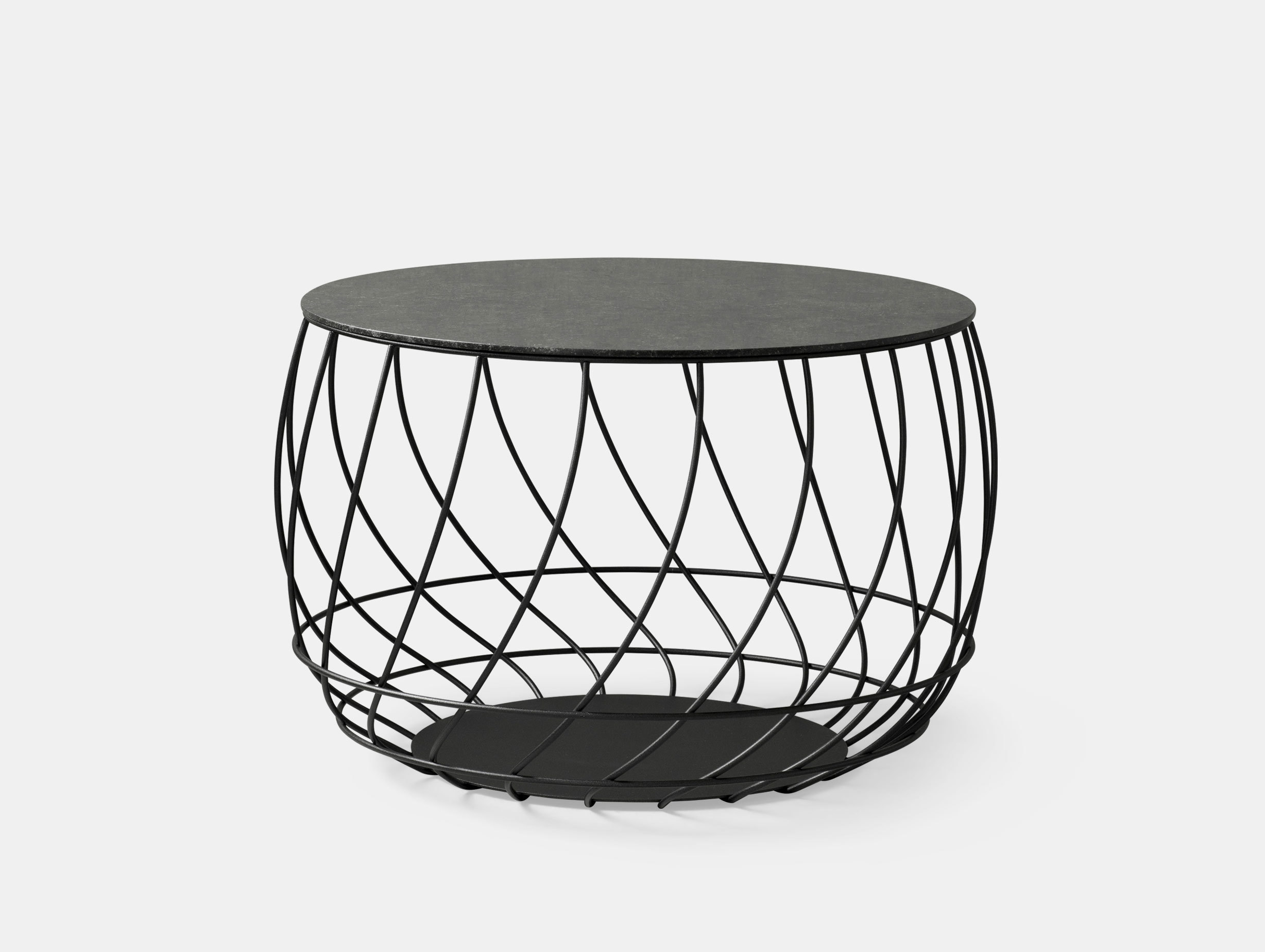 Friends Founders Spin Coffee Table Black Marble Ida Linea Hildebrand