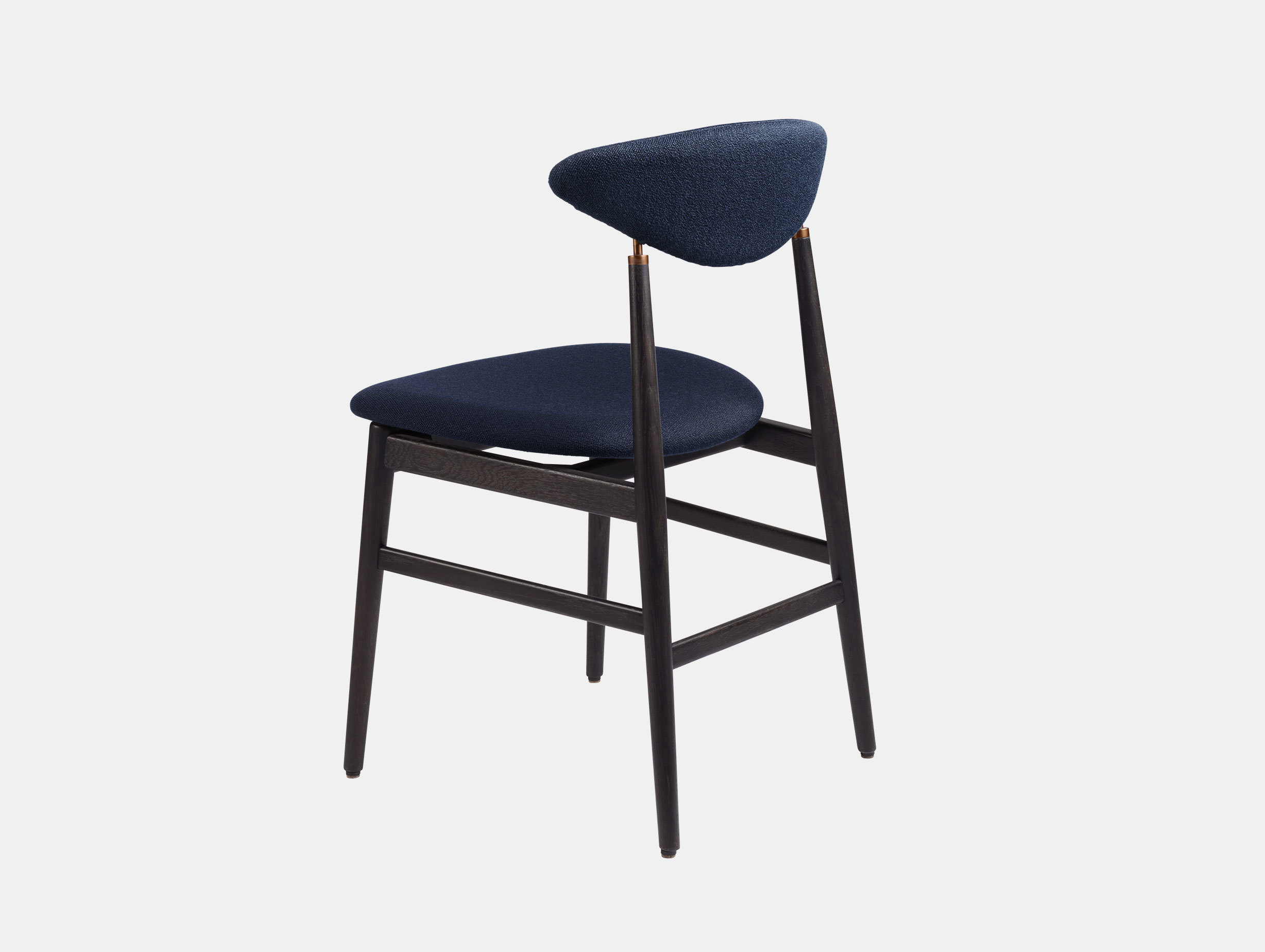 Gubi Gent Dining Chair Back Black Vidar 554 Gam Fratesi