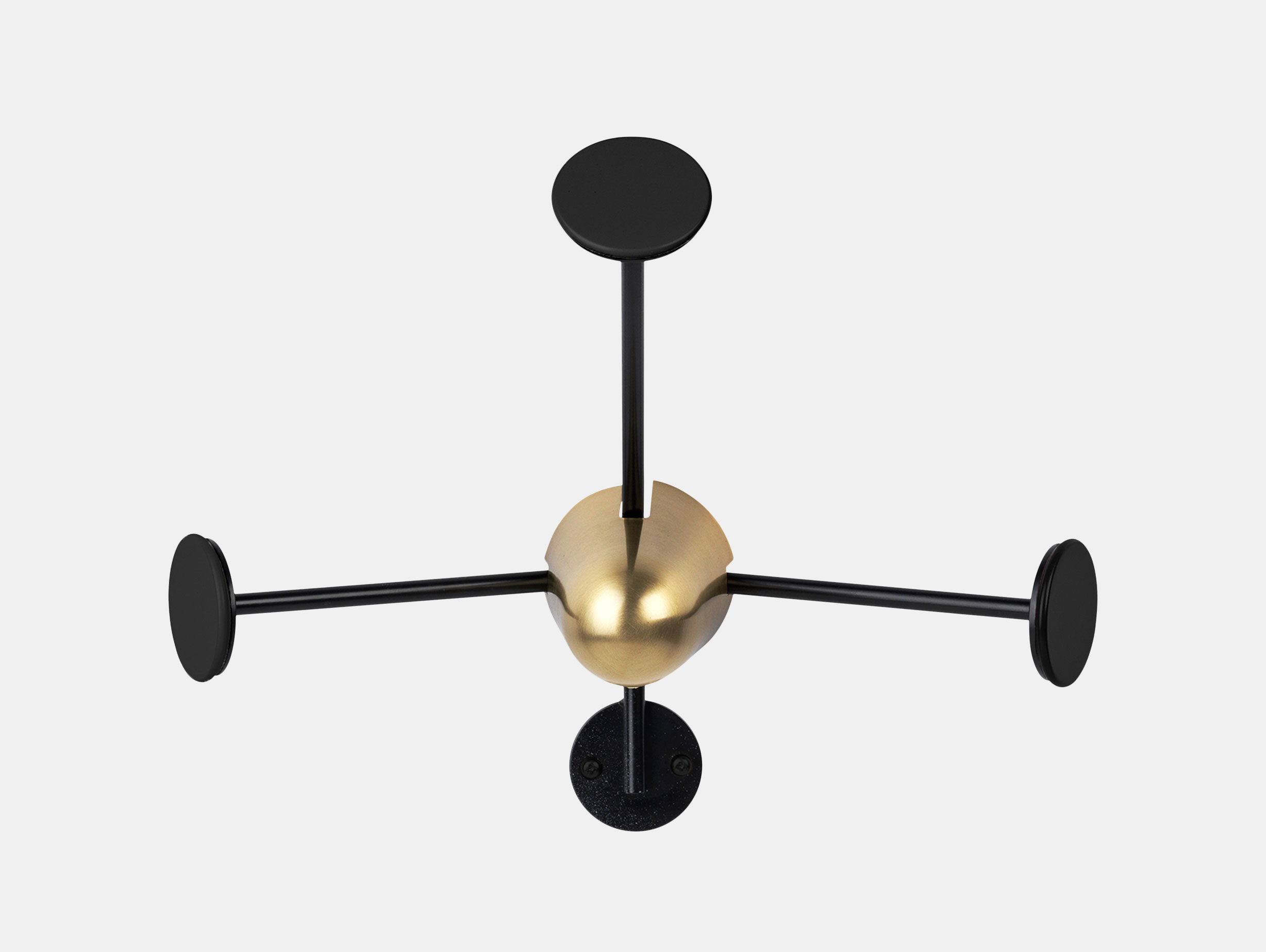 Gubi Matégot Coat Rack Black Brass Mathieu Mategot