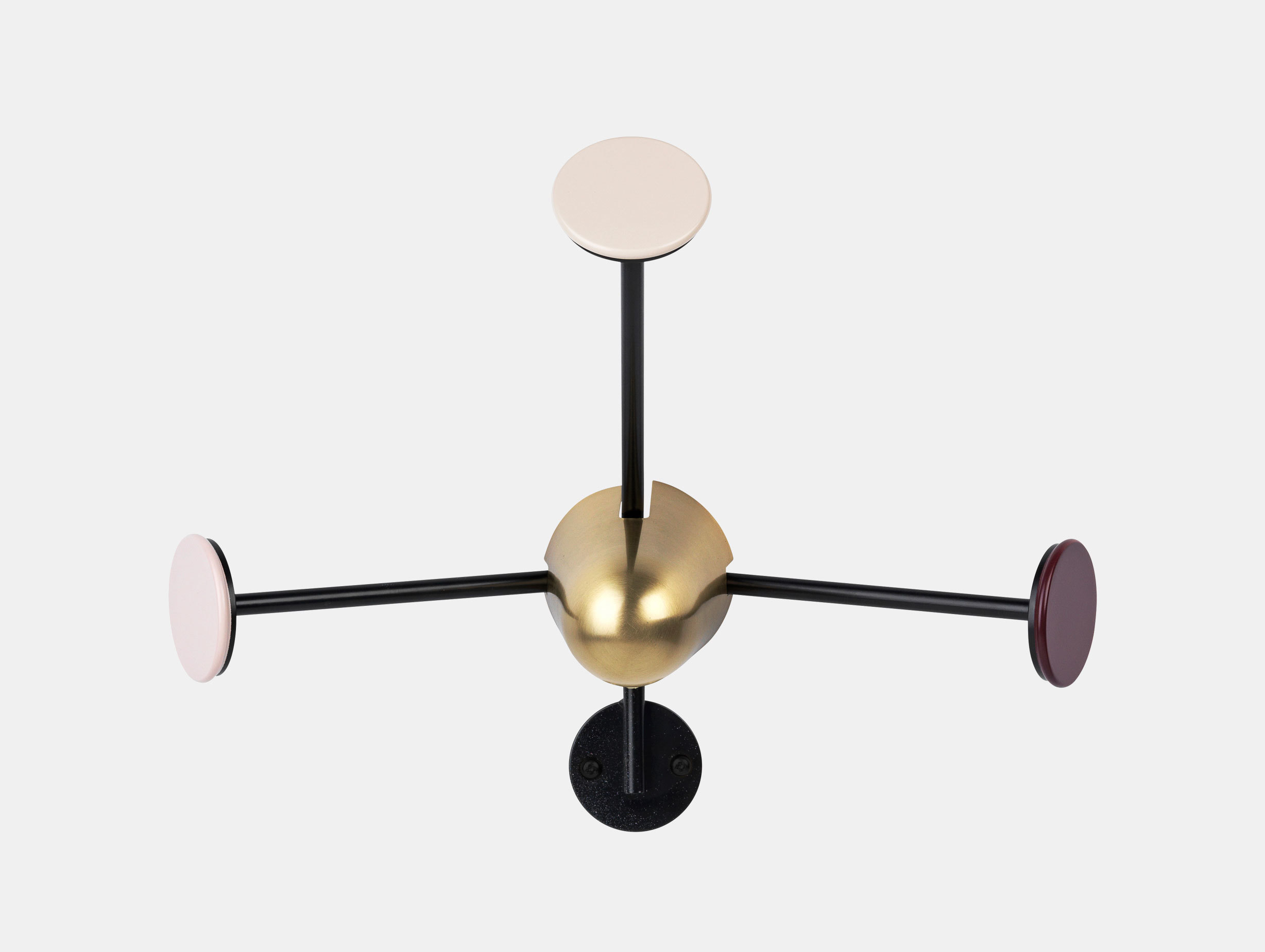 Gubi Matégot Coat Rack Black Brass Red Mathieu Mategot