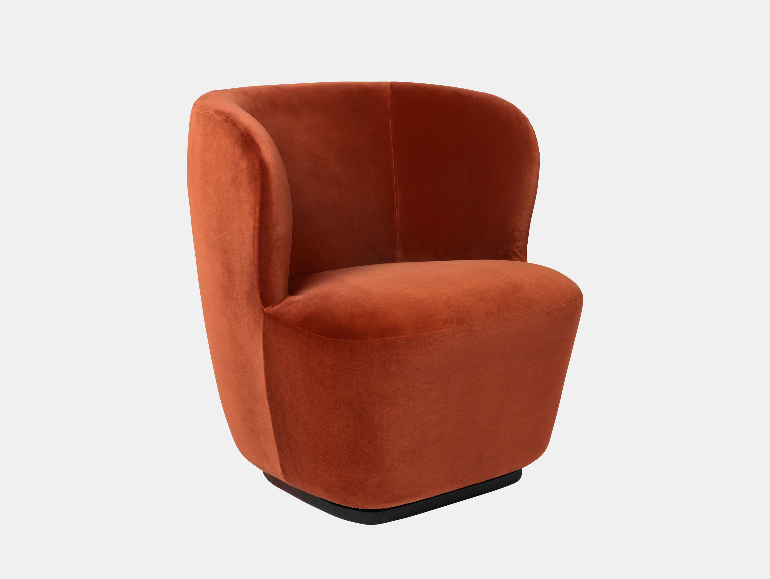 Gubi Stay Lounge Chair Velvet 641 Space Copenhagen
