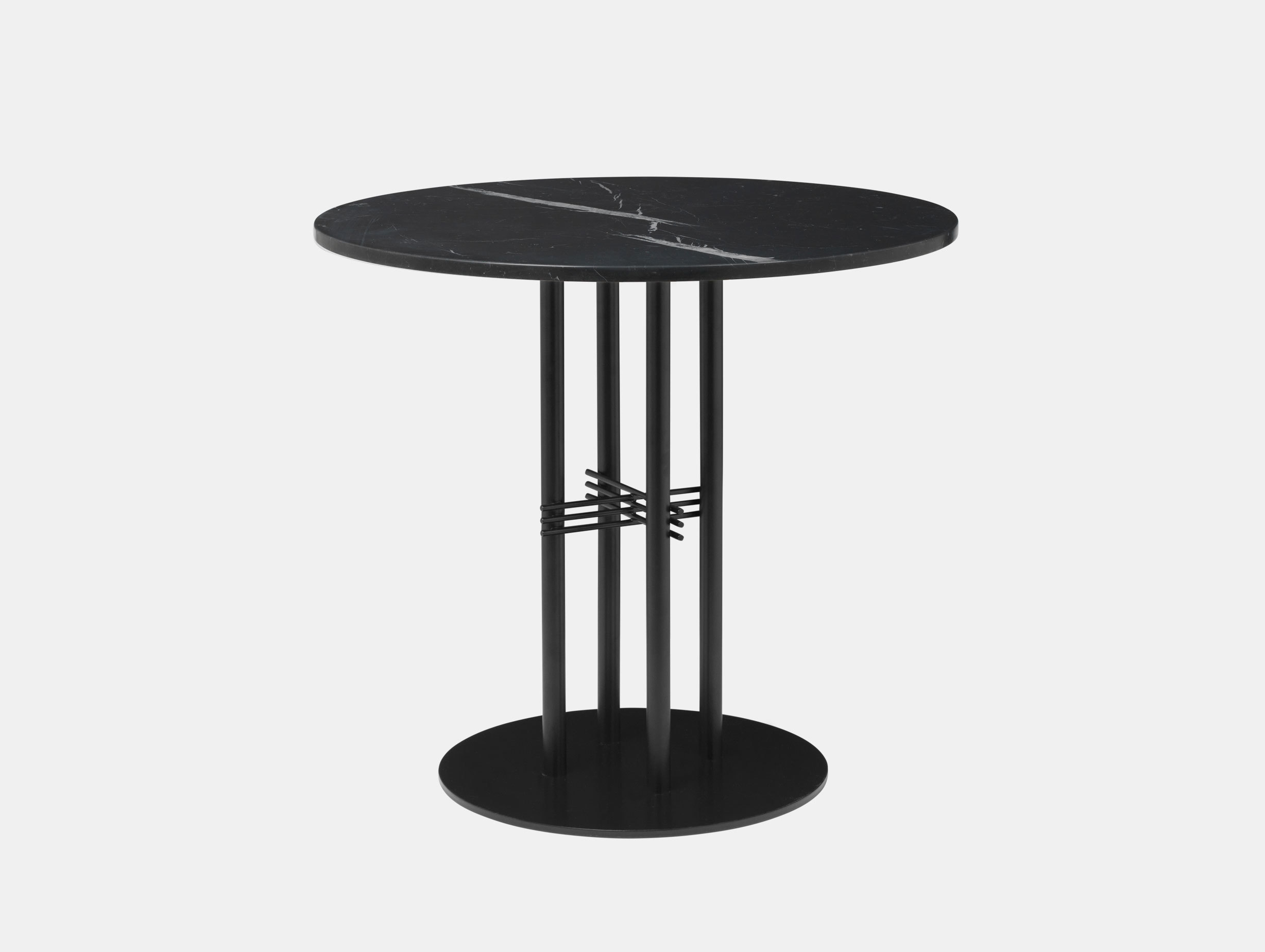 Gubi Ts Column Dining Table Black Marble Gam Fratesi