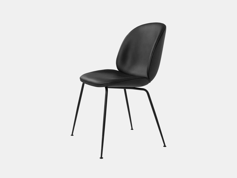 Gubi Beetle Dining Chair Black Leather Gamfratesi